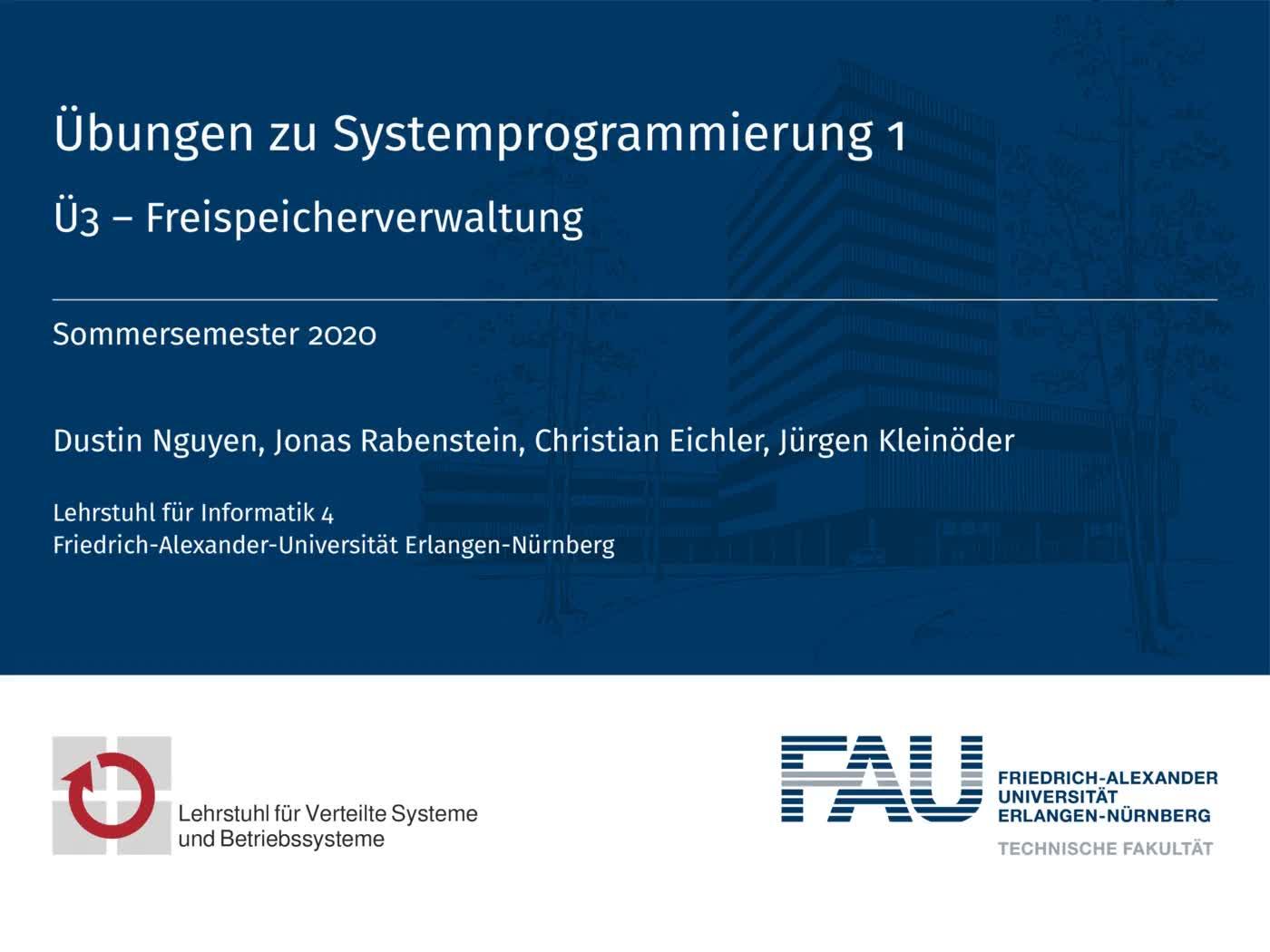 3.1 Freispeicherverwaltung: Verwaltung preview image