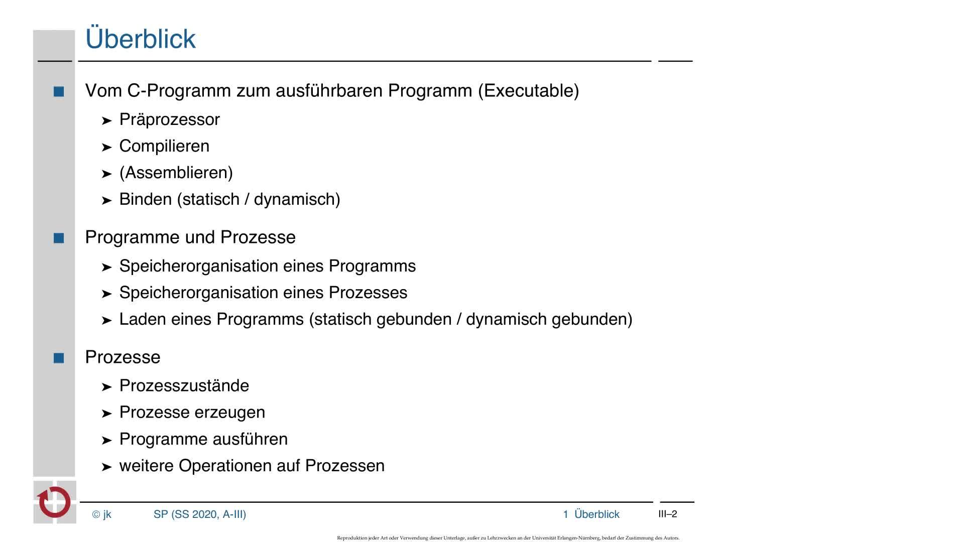 3.1 Ausführung von Programmen: Übersetzen, Binden preview image