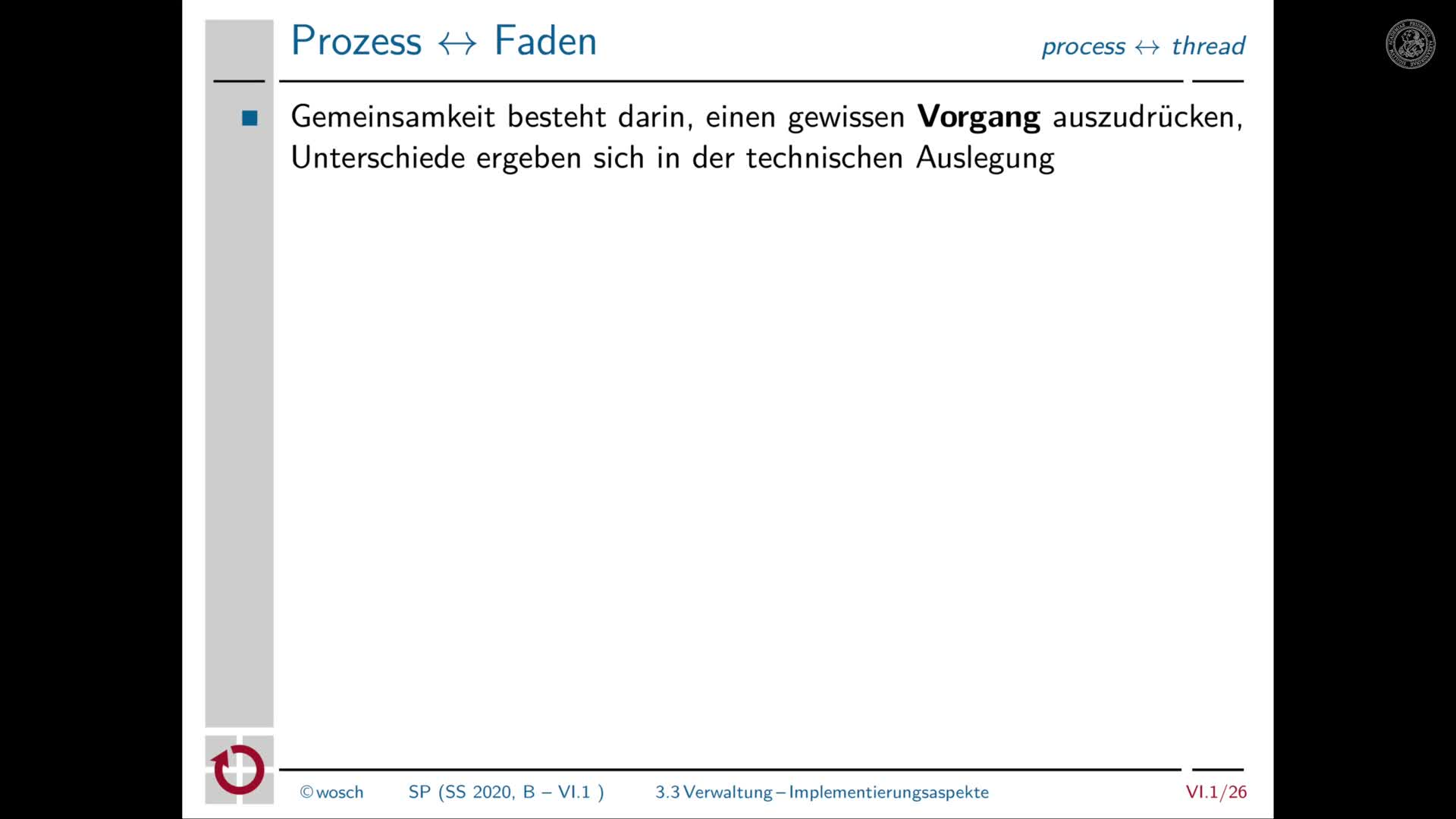 6.1.7 Prozesse: Implementierungsaspekte preview image