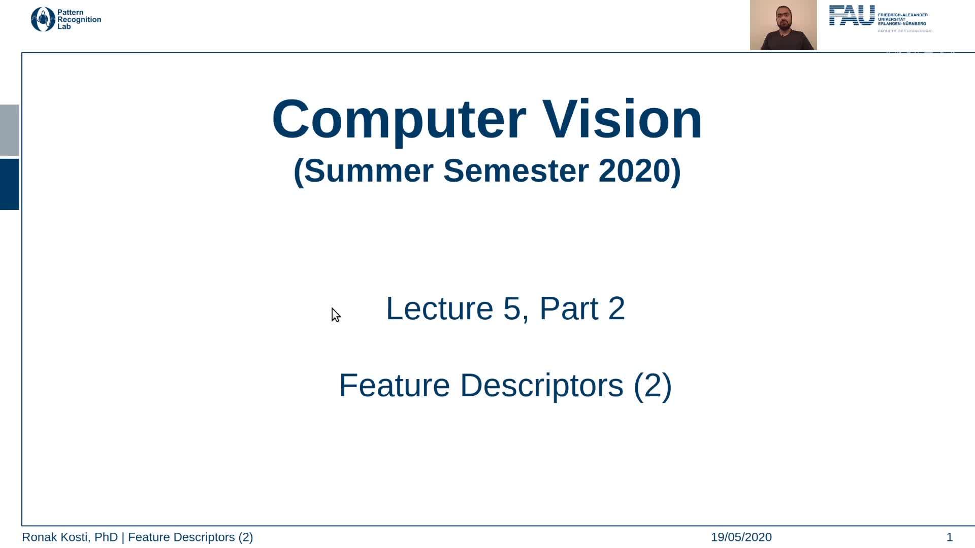 Feature Descriptors (Lecture 5, Part 2) preview image