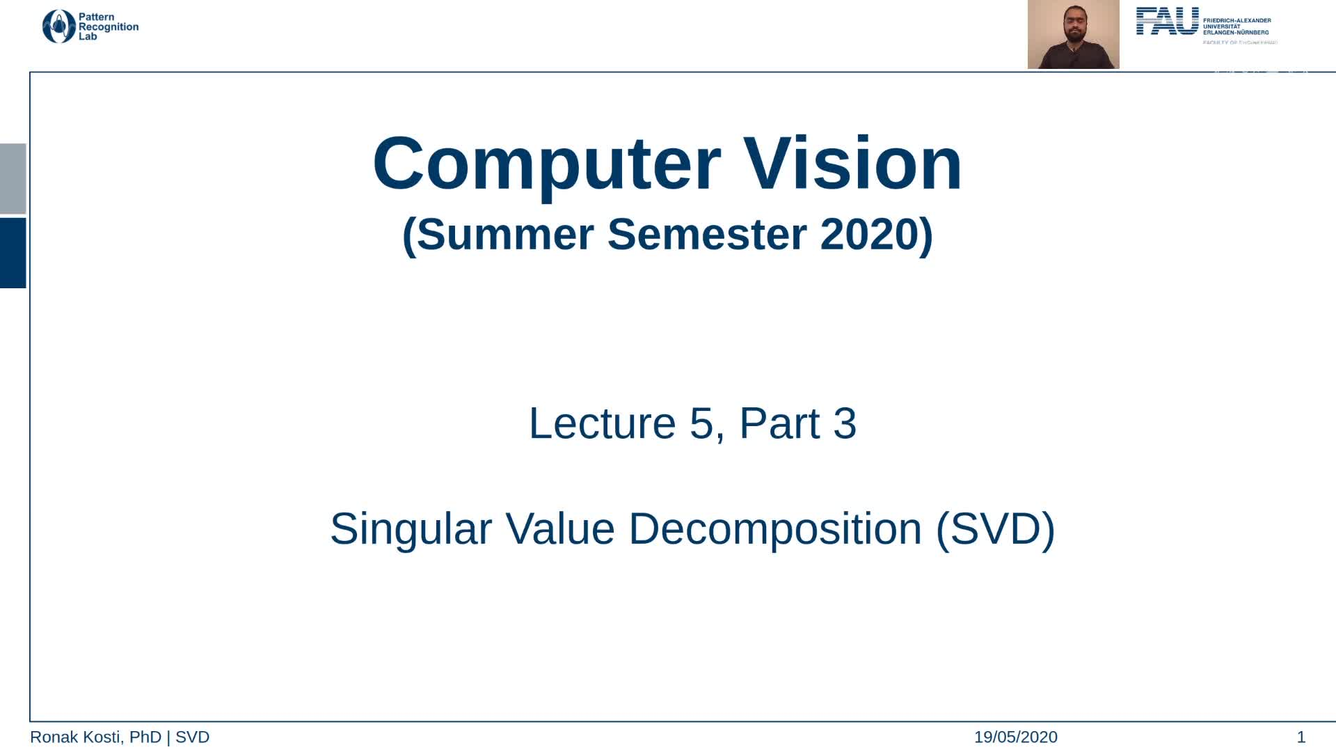 Singular Value Decomposition (Lecture 5, Part 3) preview image