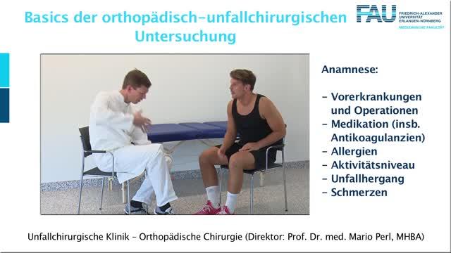 Basics der orthopädisch-unfallchirurgischen Untersuchung preview image