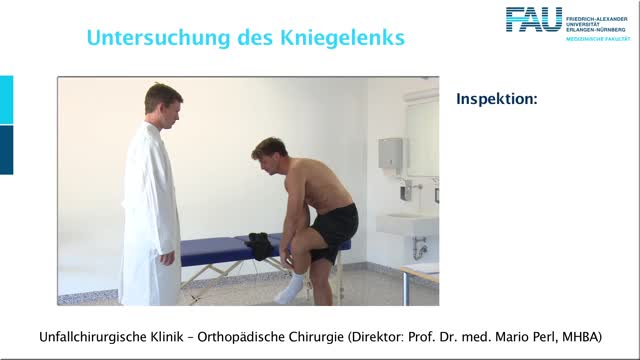 Untersuchung des Kniegelenks preview image