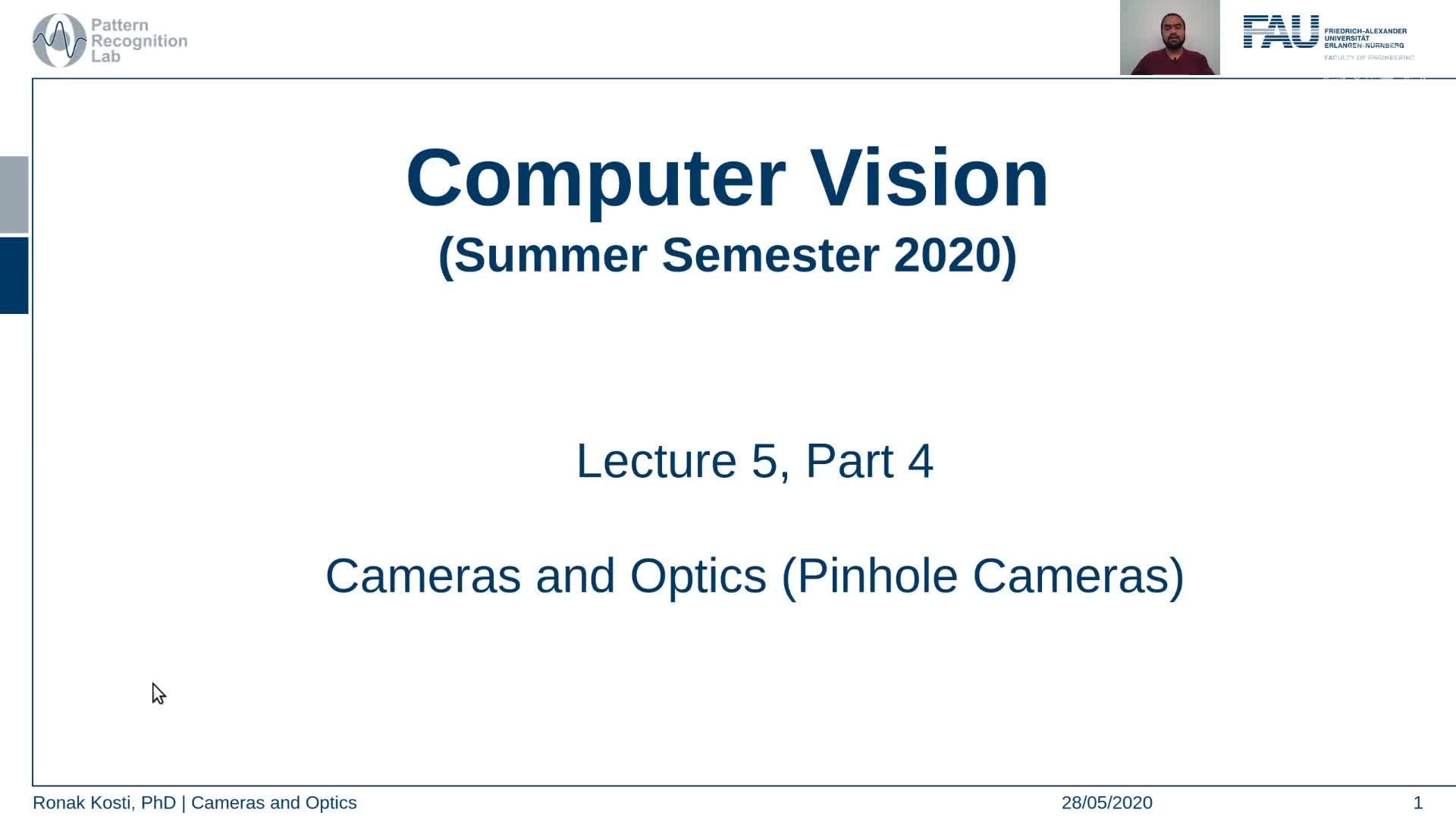Cameras and Optics - Pinhole Cameras (Lecture 5, Part 4) preview image