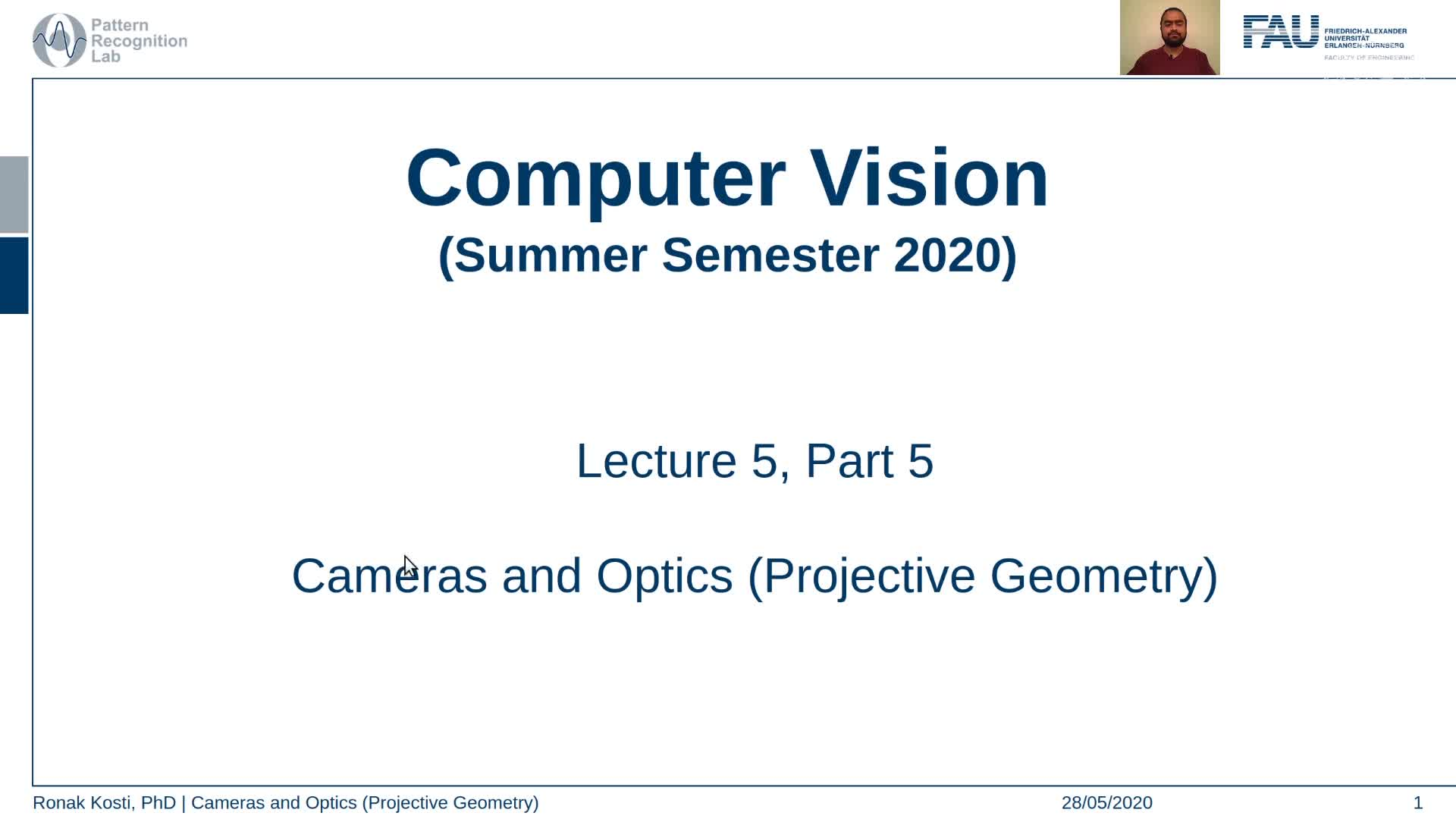 Cameras and Optics - Projective Geometry (Lecture 5, Part 5) preview image