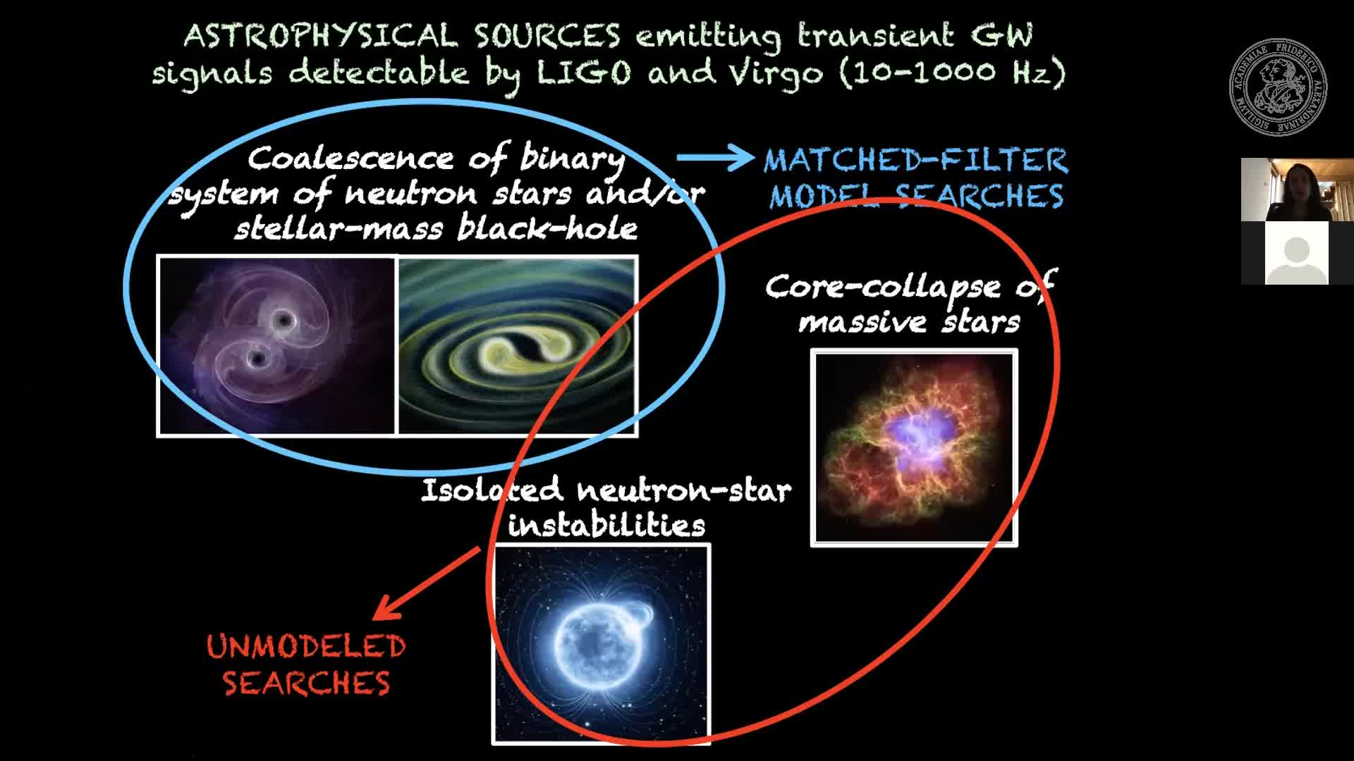 03 June 2020: Marica Branchesi (Gran Sasso Science Institute): Multi-messenger astronomy including gravitational-wave preview image