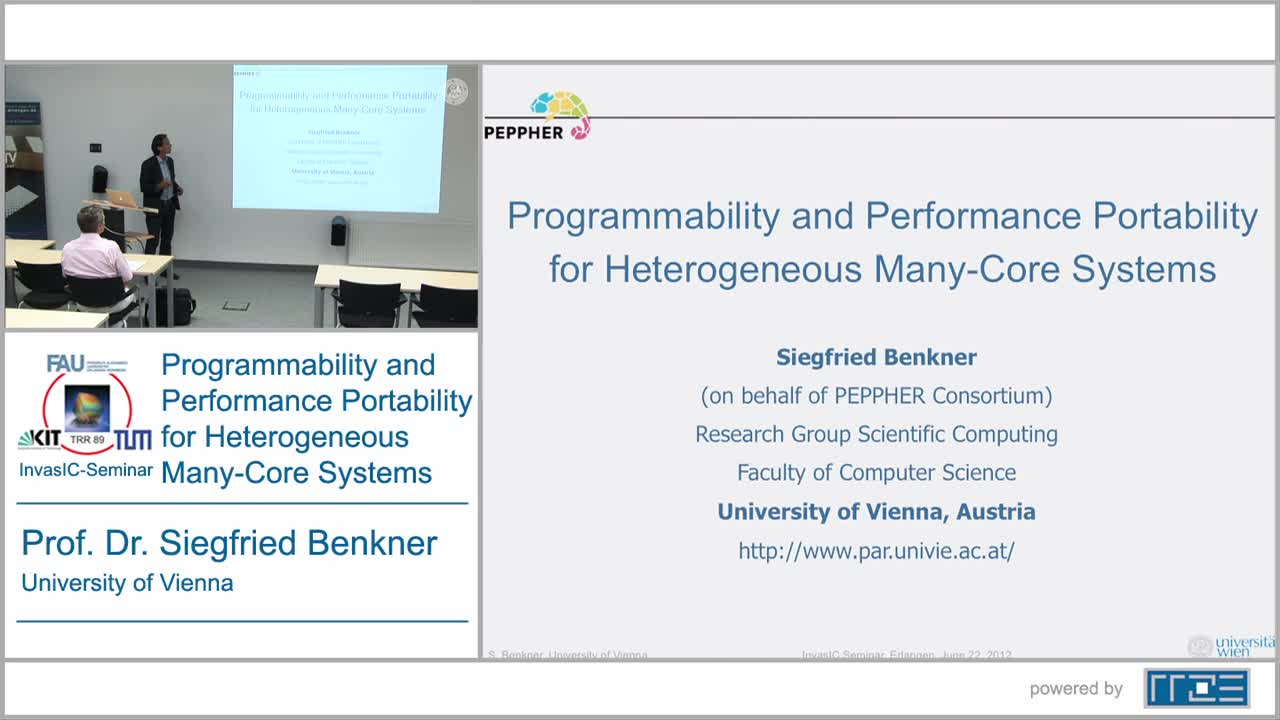Programmability and Performance Portability for Heterogeneous Many-Core Systems preview image