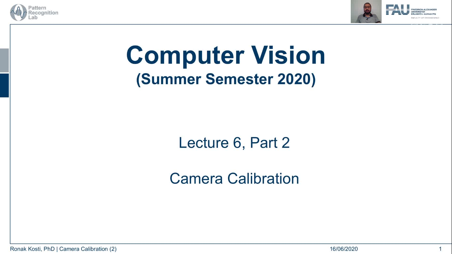 Camera Calibration (Lecture 6, Part 2) preview image