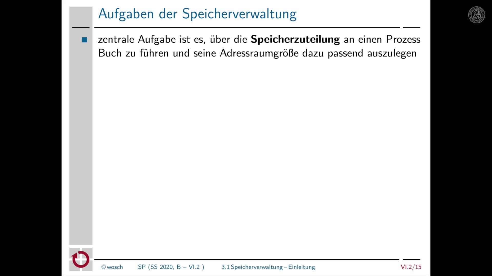 6.2.4 Speicher: Einleitung zur Speicherverwaltung preview image