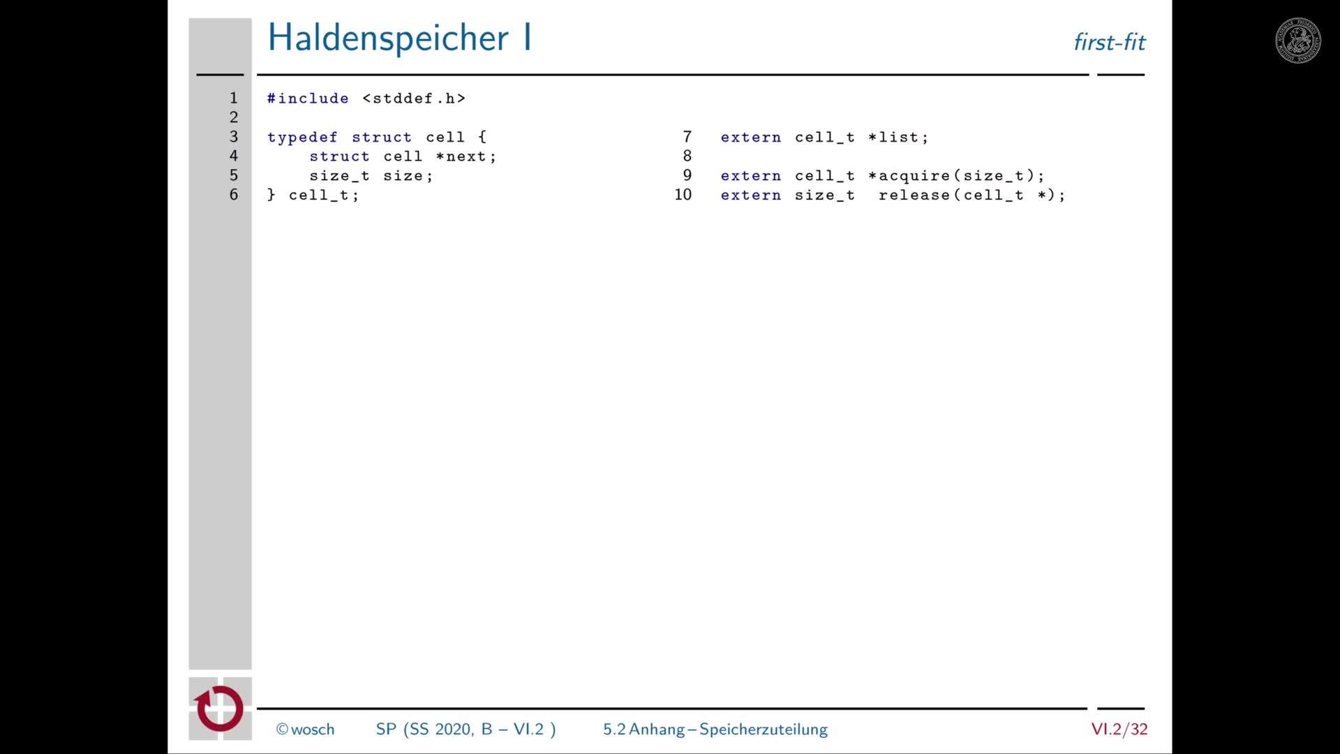 6.2.9 Speicher: Anhang zur Speicherzuteilung preview image