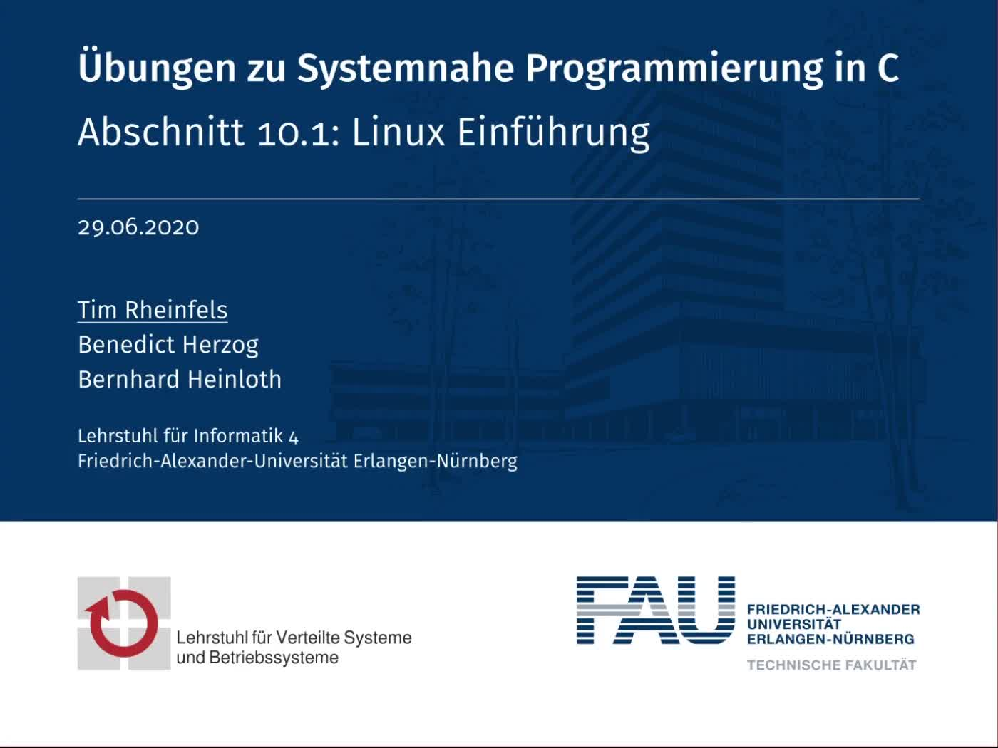 10.1: Linux Einführung preview image