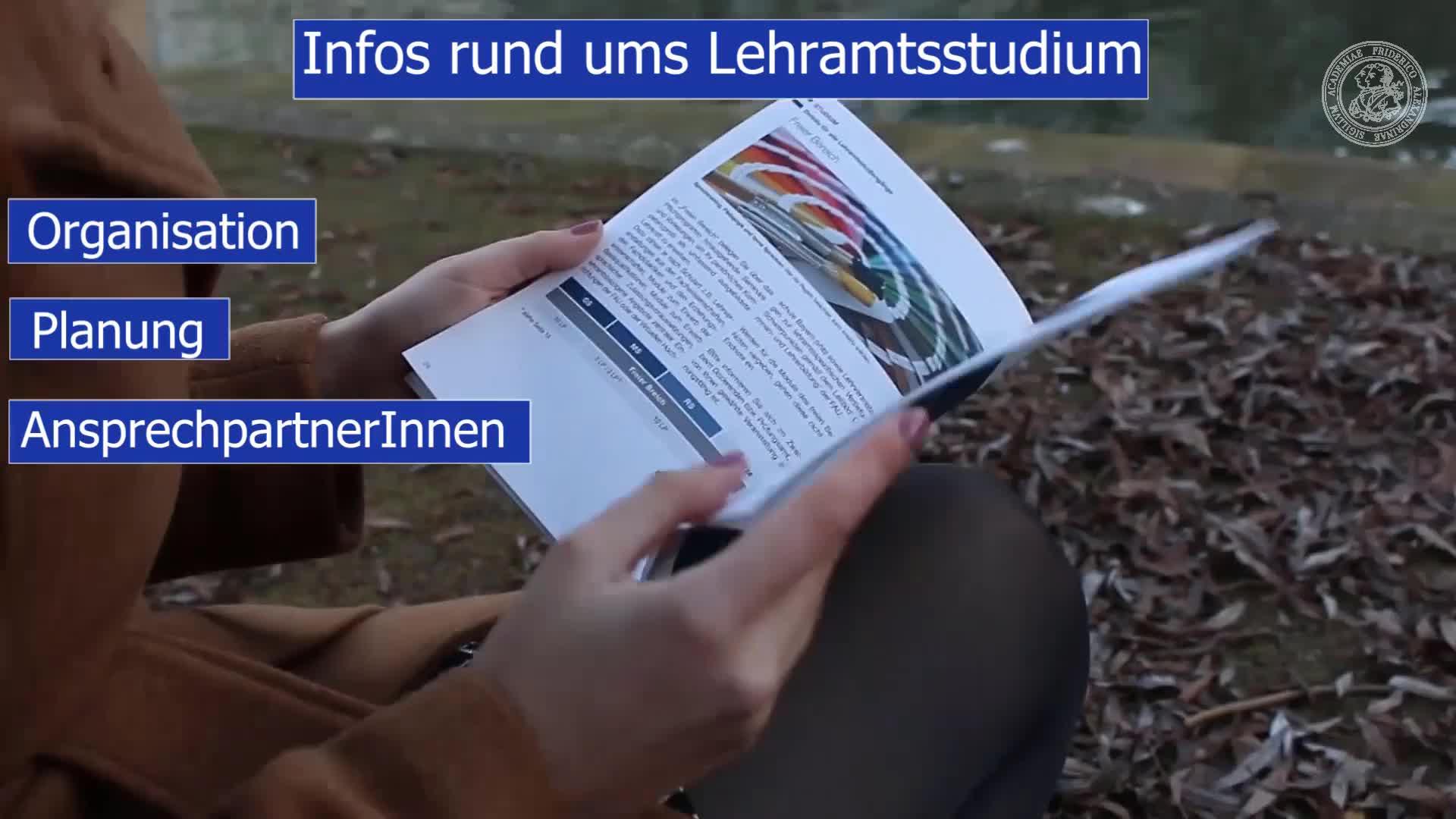 Lehramt | Gymnasium | Realschule | Stundenplan I | ZfL preview image