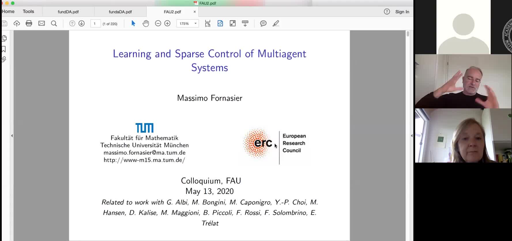 Learning and Sparse Control of Multiagent Systems preview image