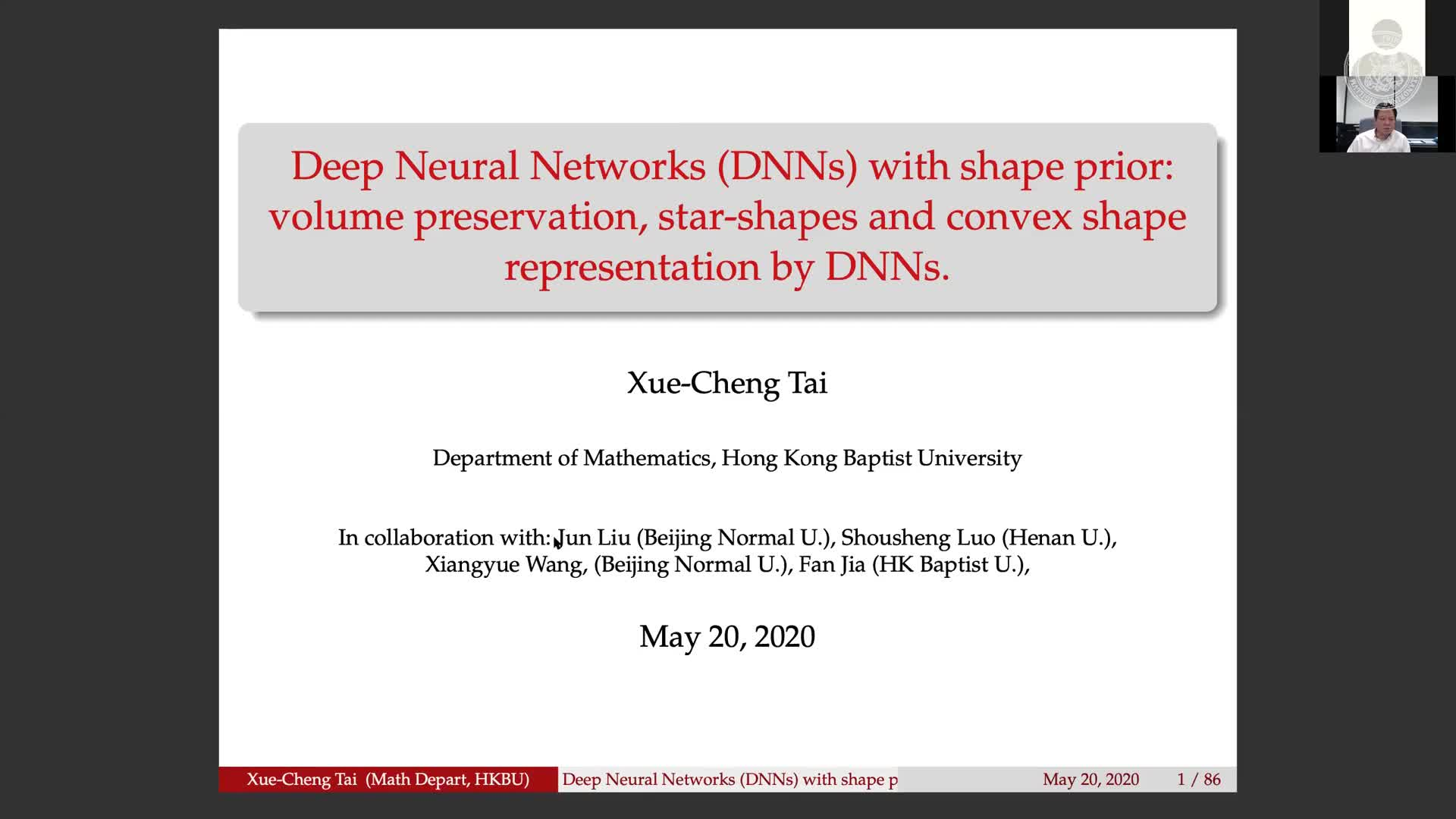 Deep Neural Networks (DNNs) with shape prior: volume preservation, Star-shapes and convex shape representation by DNNs preview image