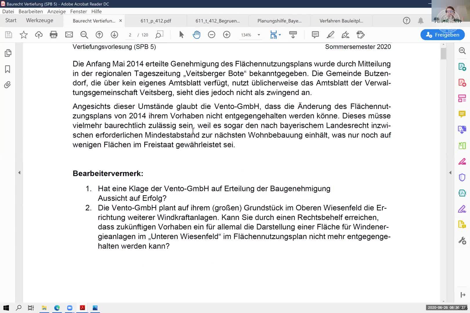 Einheit 2 - Bauleitplanung, Abwägungsfehlerlehre, Unbestimmter Rechtsbegriff preview image