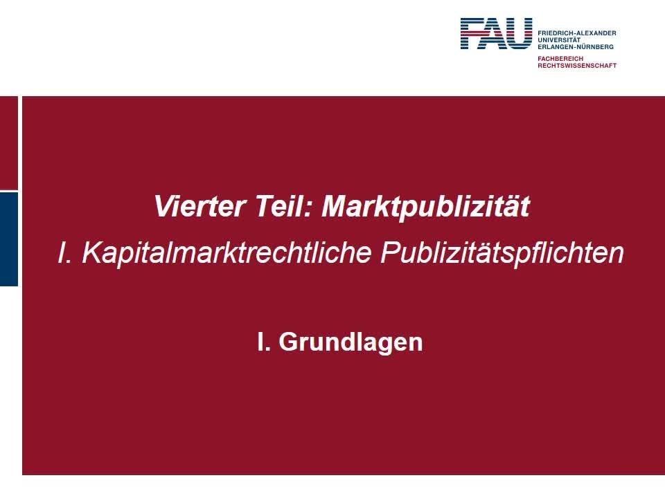 Grundlagen; Regelpublizität – Finanzberichterstattung des Emittenten nach §§ 114 ff. WpHG preview image