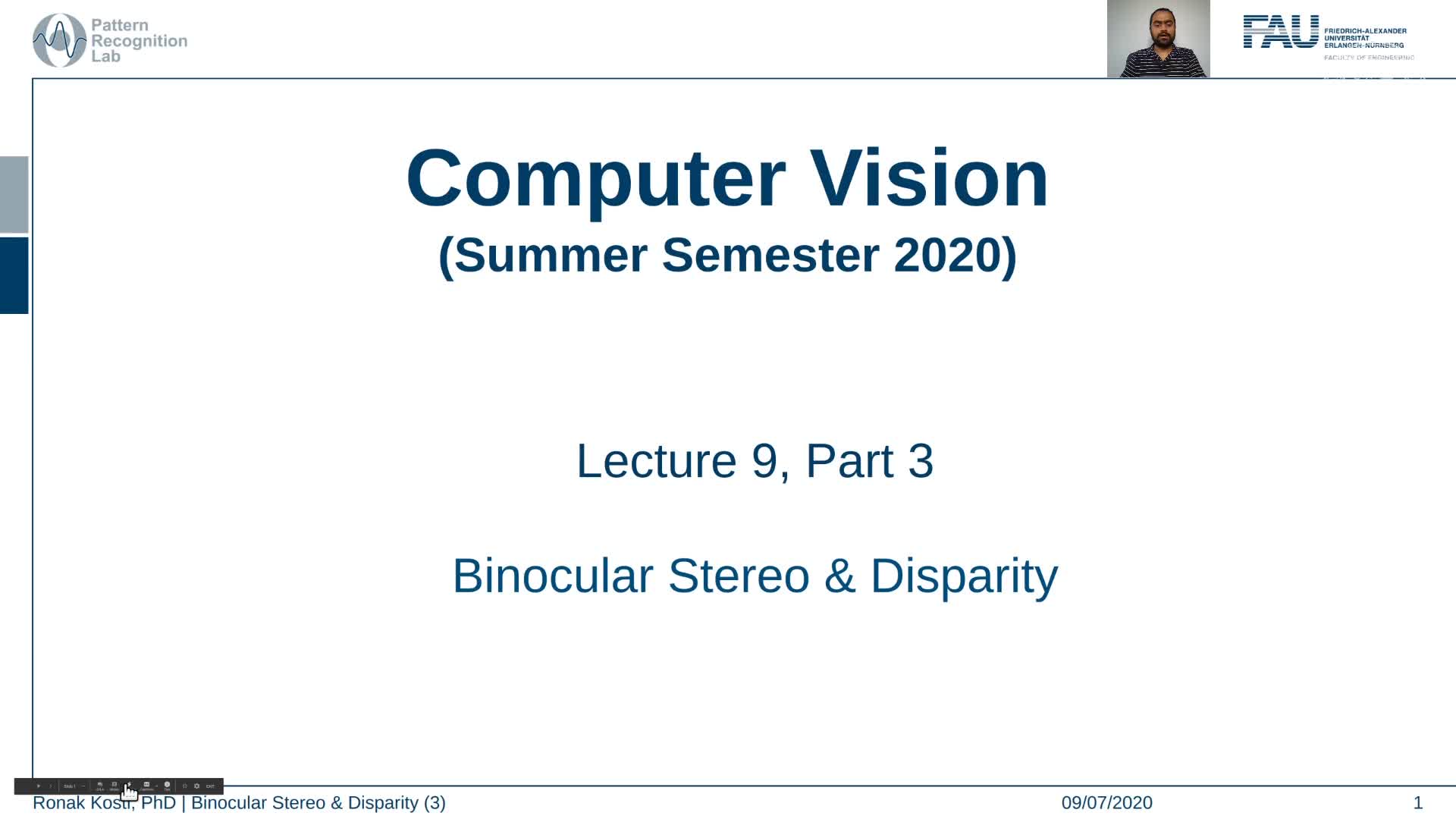 Binocular Stereo and Disparity (Lecture 9, Part 3) preview image