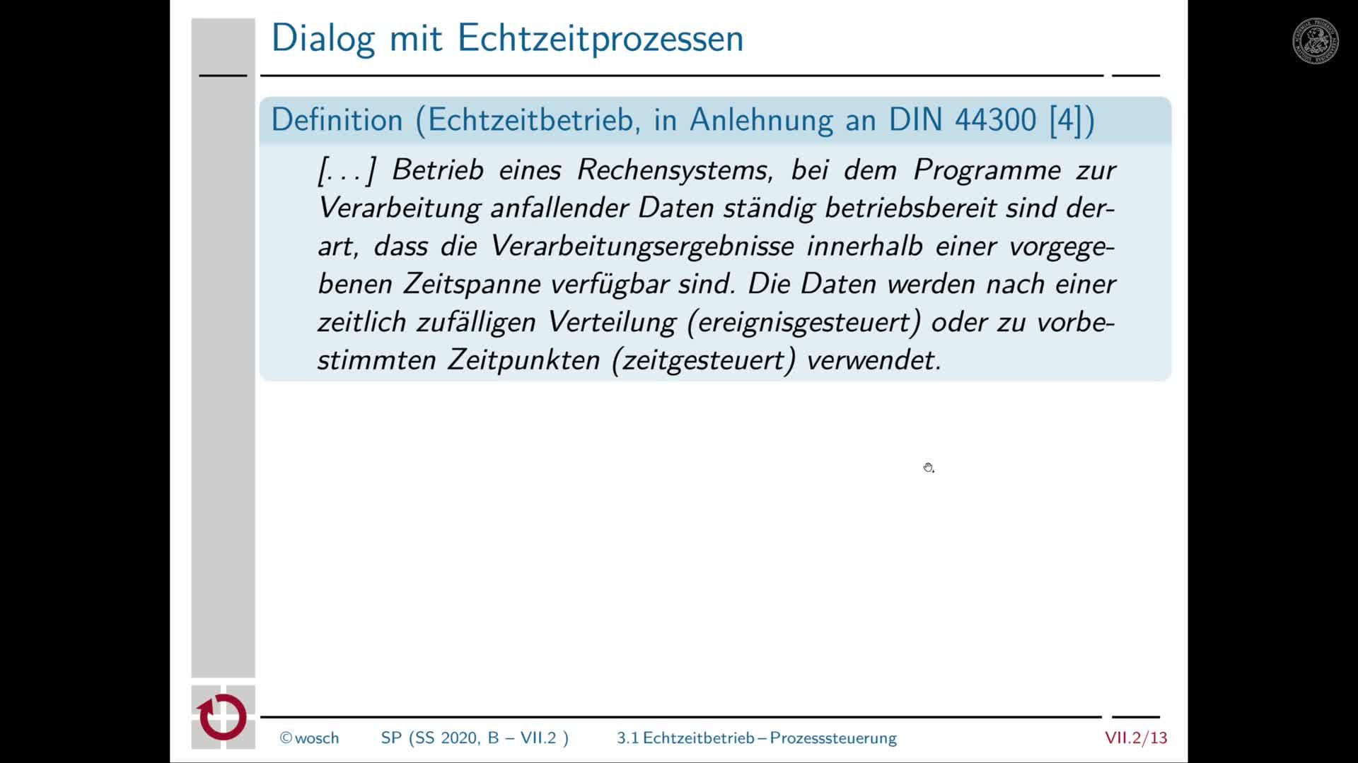 7.2.4 Dialogverarbeitung: Echtzeitbetrieb preview image