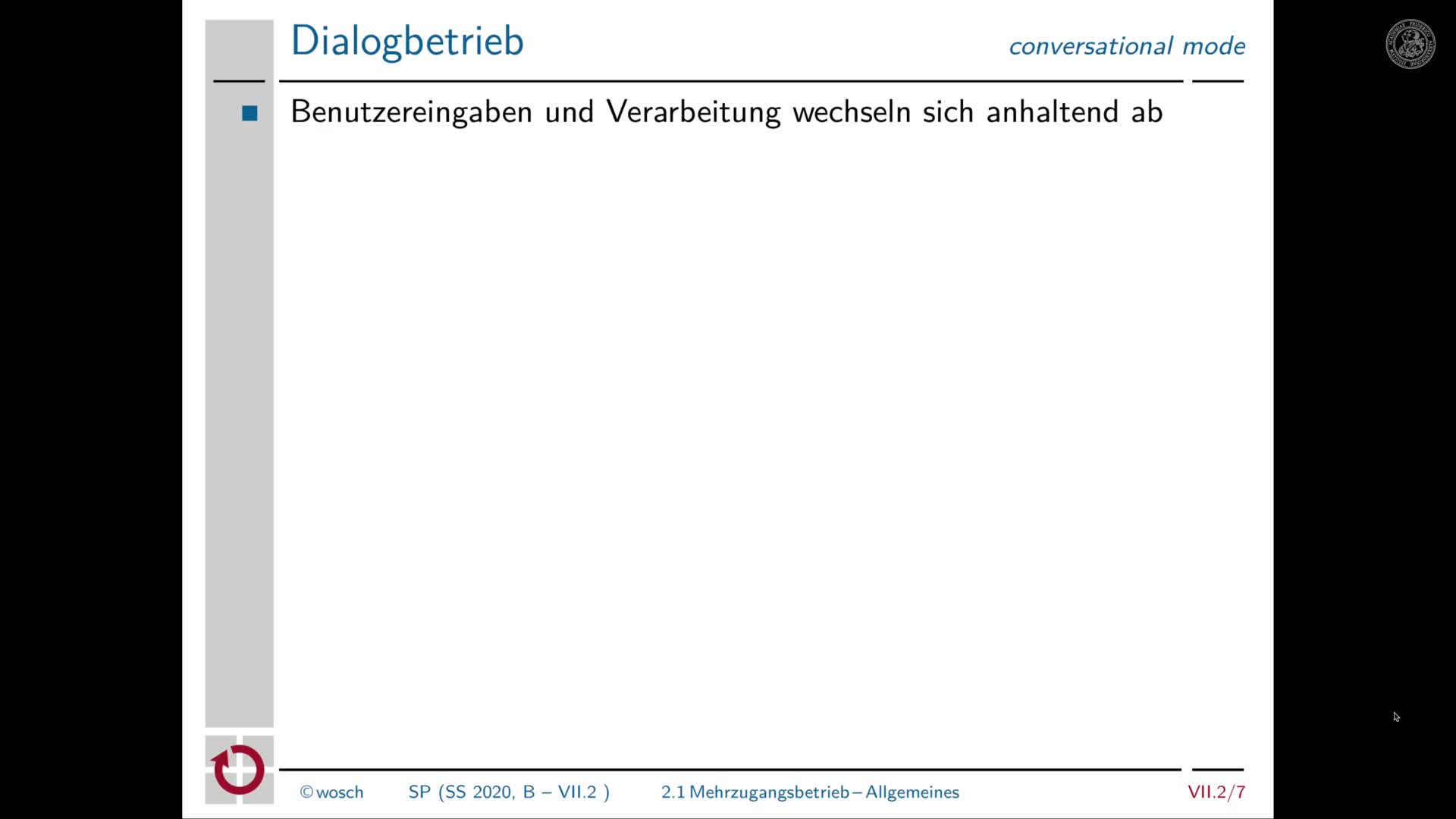7.2.3 Dialogverarbeitung: Mehrzugangsbetrieb preview image