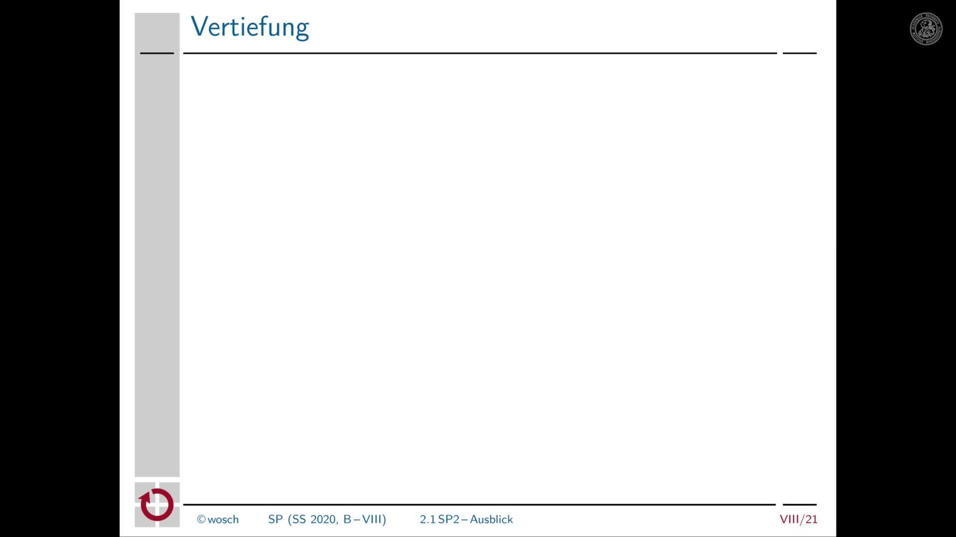 8.6 Zwischenbilanz: Ausblick Systemprogrammierung 2 preview image