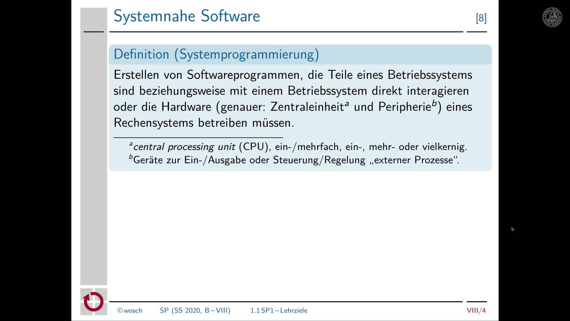8.2 Zwischenbilanz: Systemsoftware, C und Betriebssysteme preview image