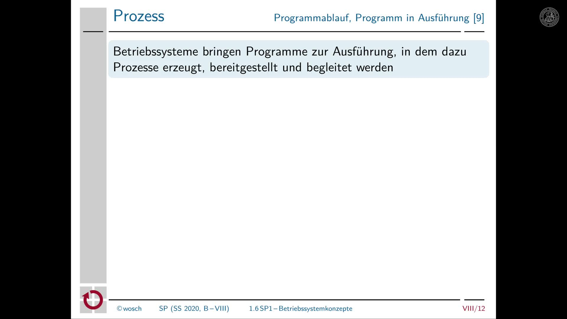 8.4 Zwischenbilanz: Betriebssystemkonzepte preview image
