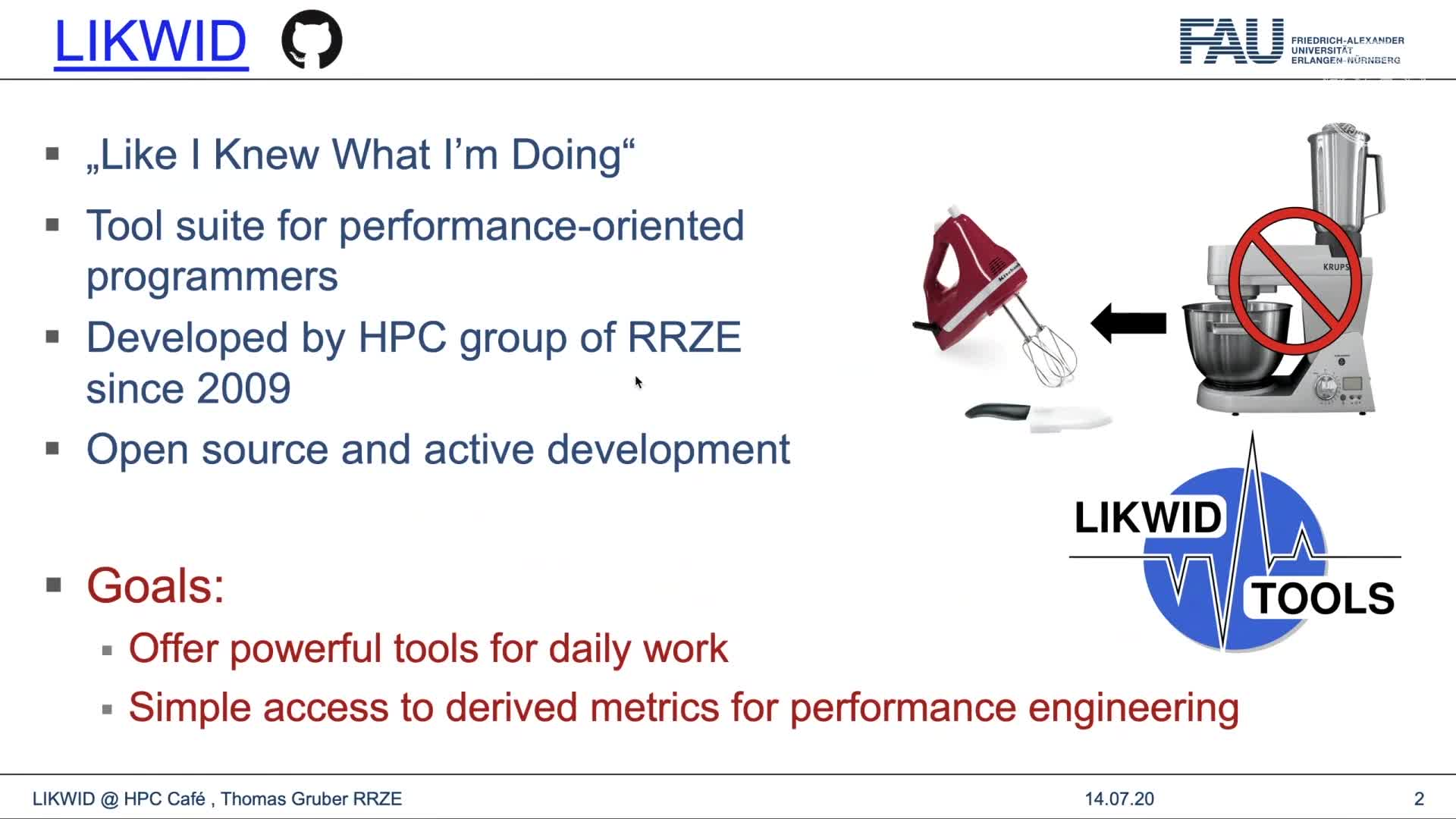 HPC Cafe: Using the LIKWID tool suite (Thomas Gruber) preview image