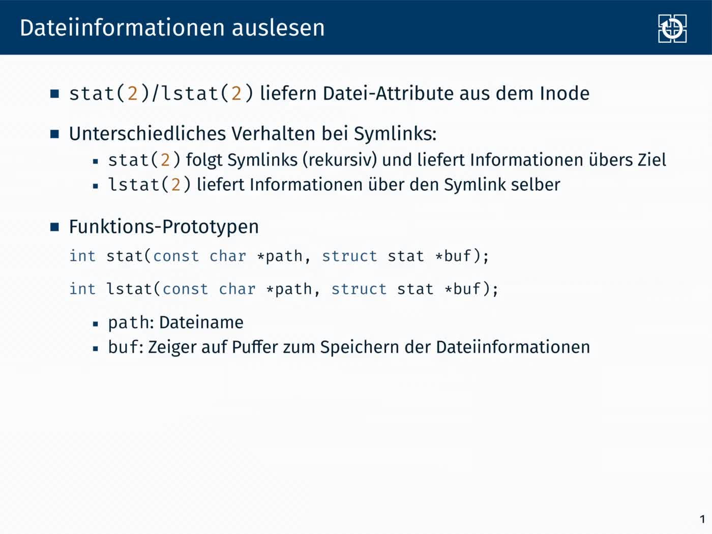 6.2 Dateisysteme: Schnittstelle preview image