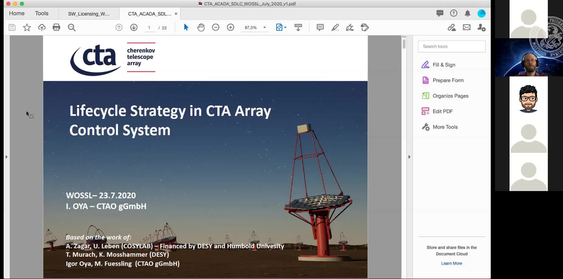 Lifecycle Strategy in CTA Array Control System preview image