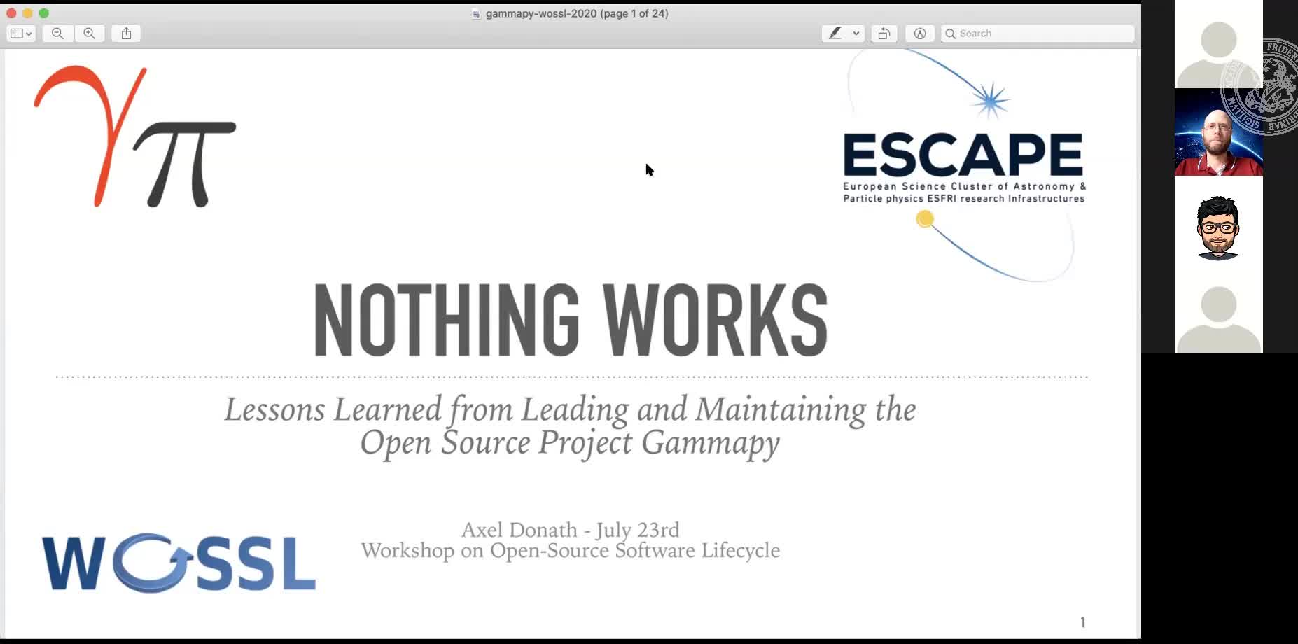 Nothing Works: Lessons Learned from Leading and Maintaining the Open Source Project Gammapy preview image