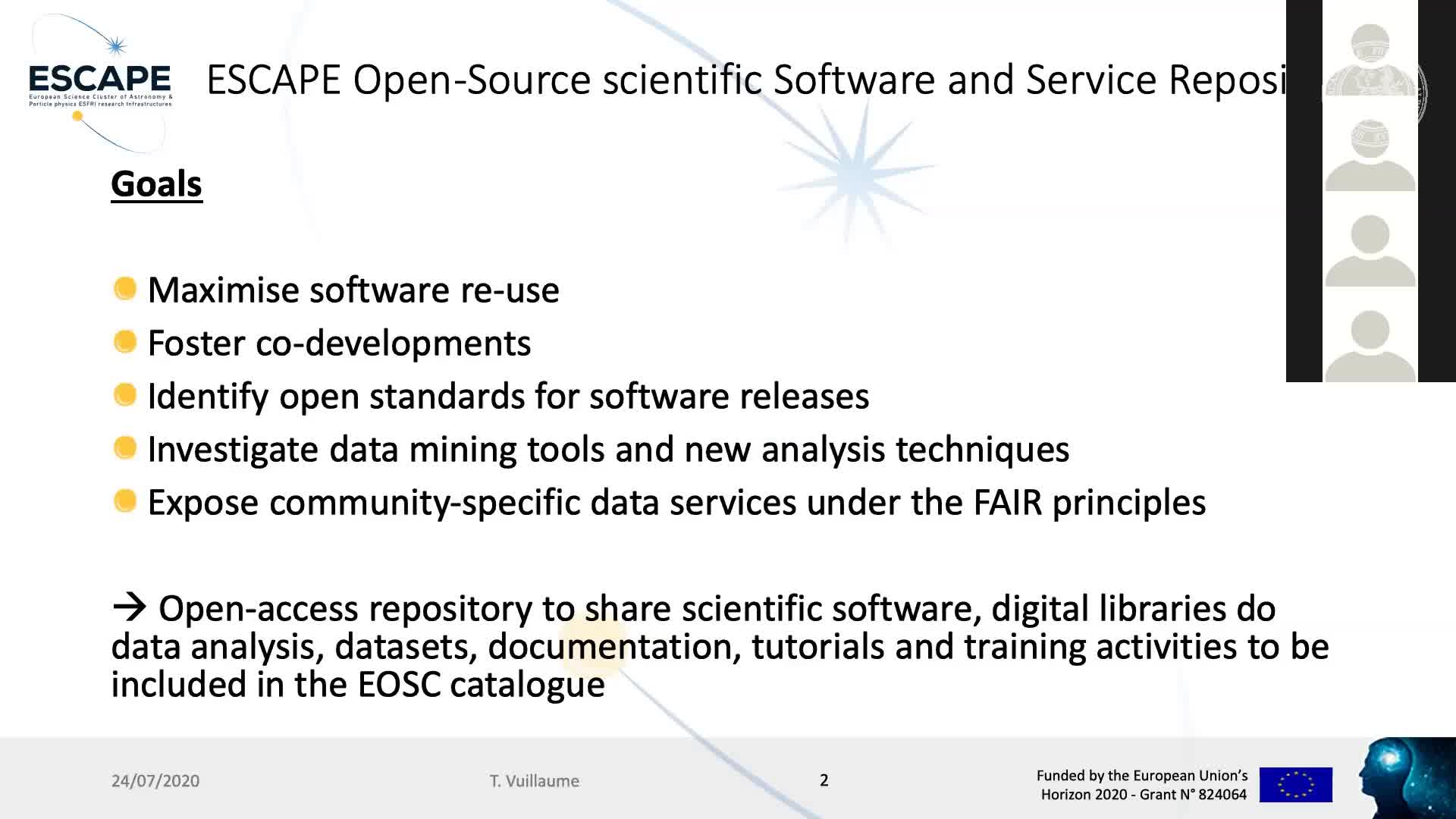 OSSR: ESCAPE Repository and Catalogue preview image