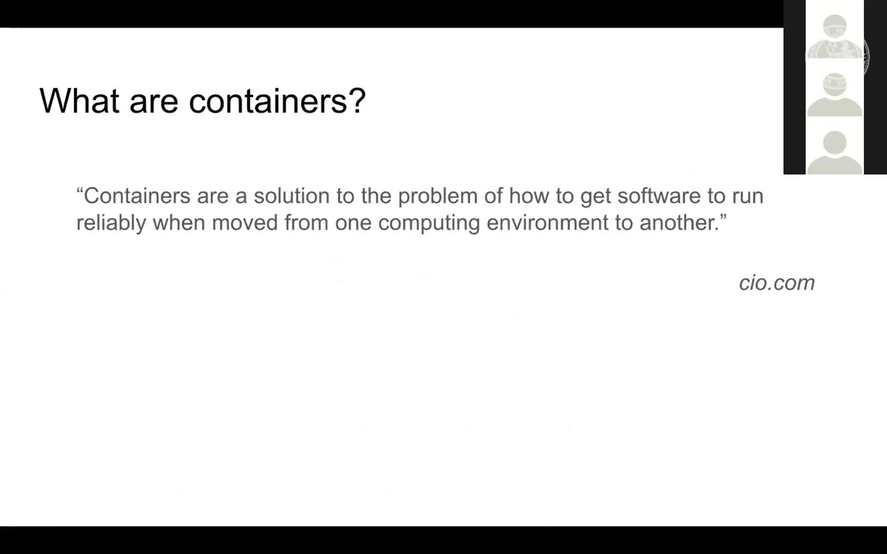 Containerisation for scientific reproducibility preview image