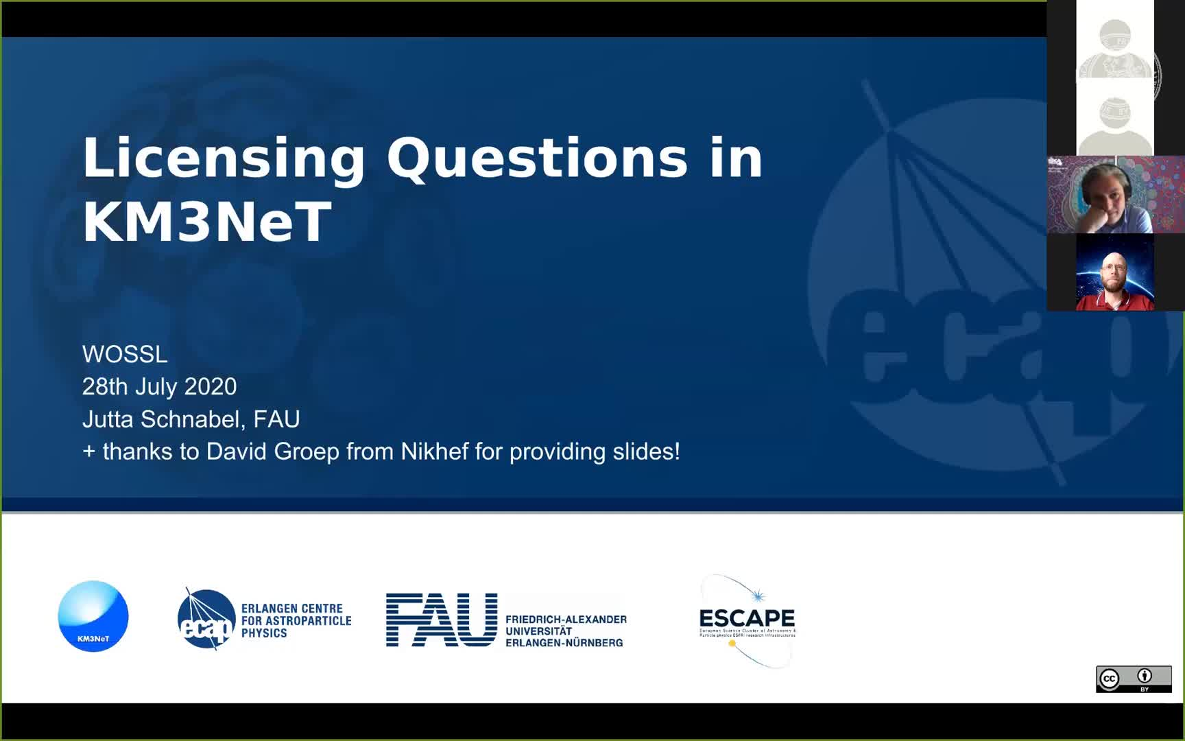 Licensing Question in KM3NeT preview image