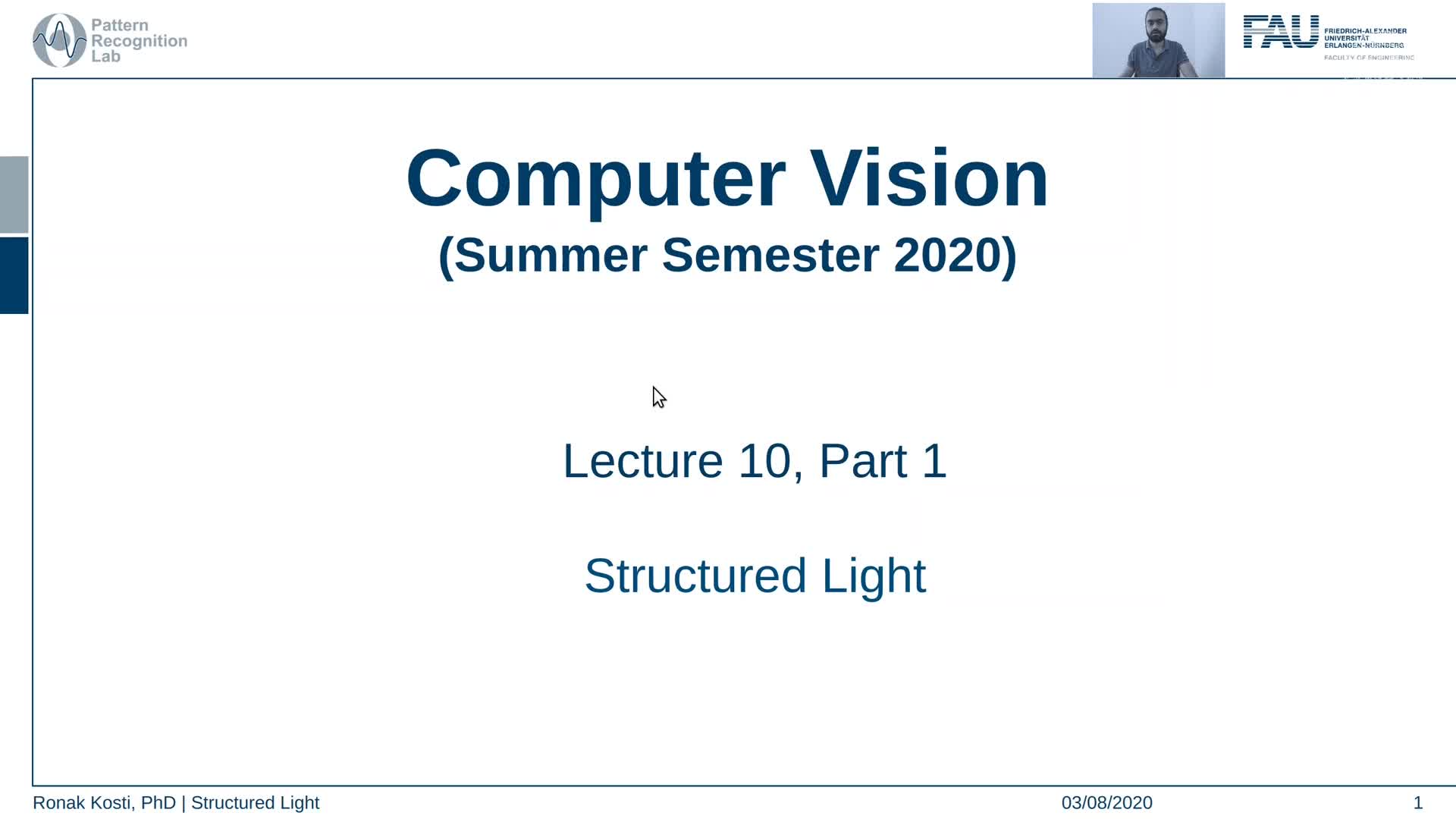Structured Light (Lecture 10, Part 1) preview image