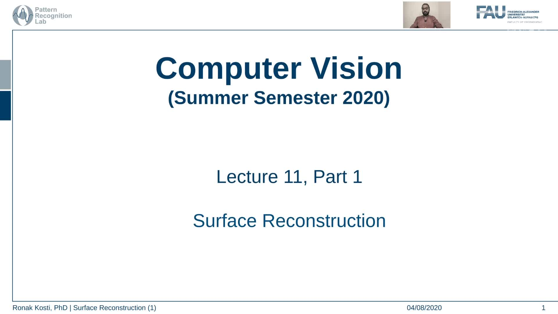 Surface Reconstruction (Lecture 11, Part 1) preview image