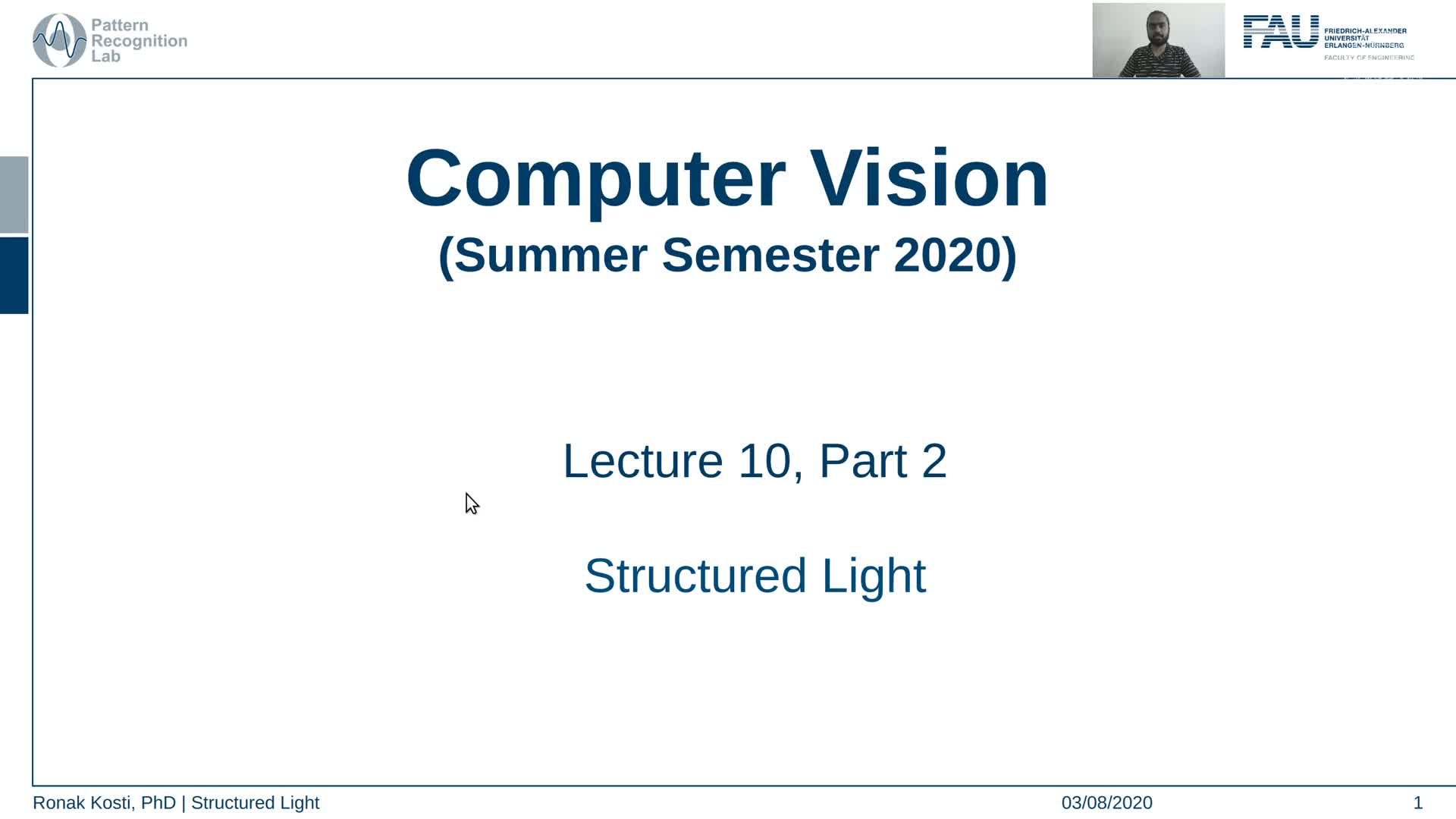 Structured Light (Lecture 10, Part 2) preview image