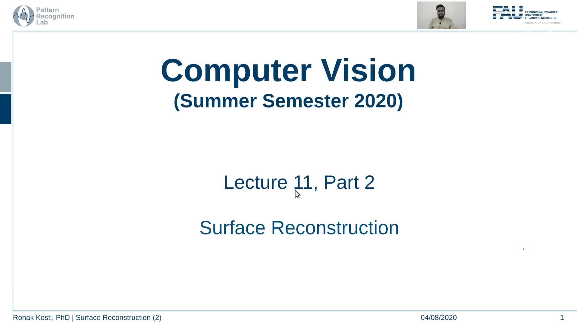 Surface Reconstruction (Lecture 11, Part 2) preview image