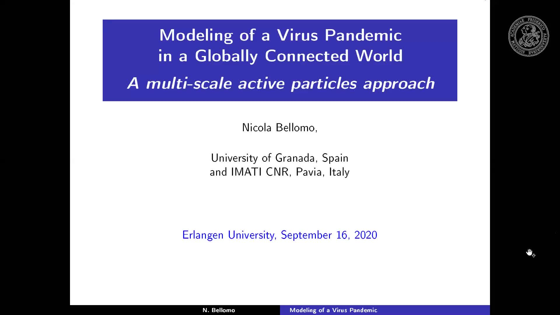 Modeling of a Virus Pandemic in a Globally Connected World: A multi-scale active particles approach preview image