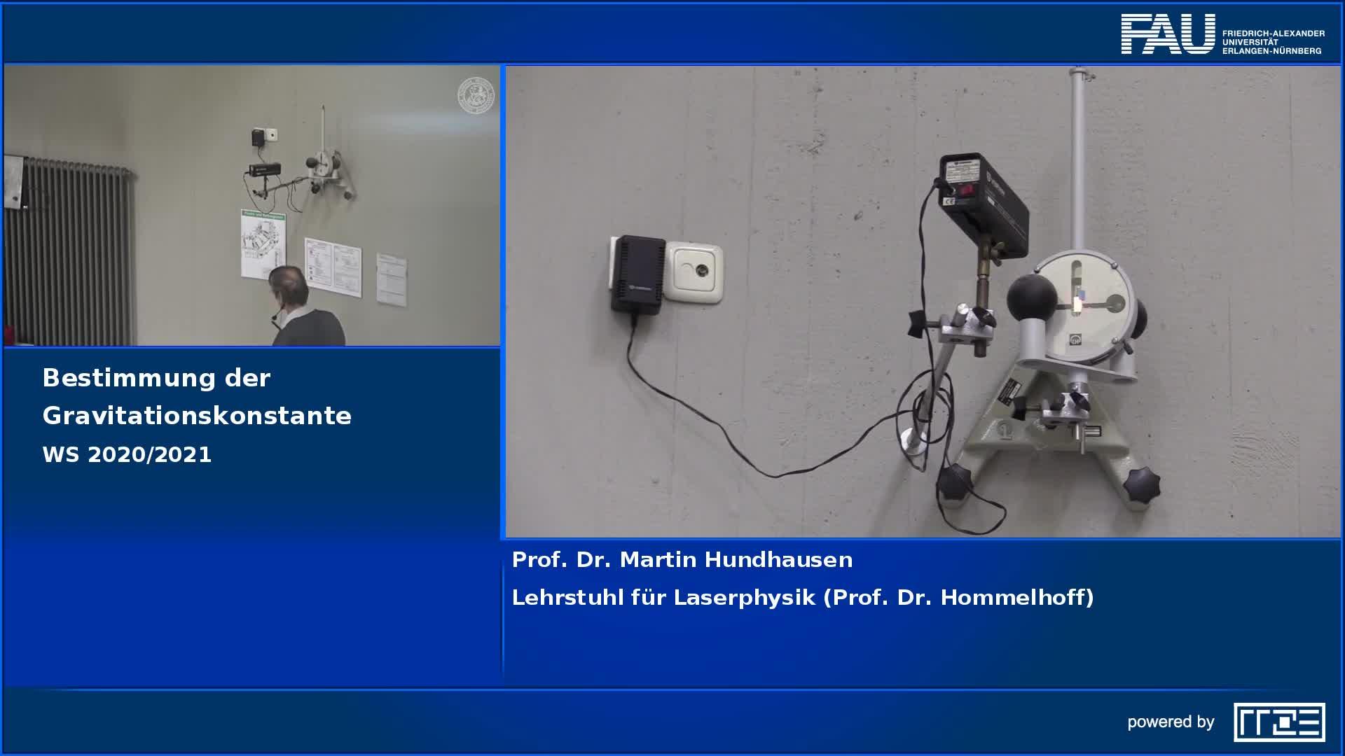Bestimmung der Gravitationskonstanten preview image