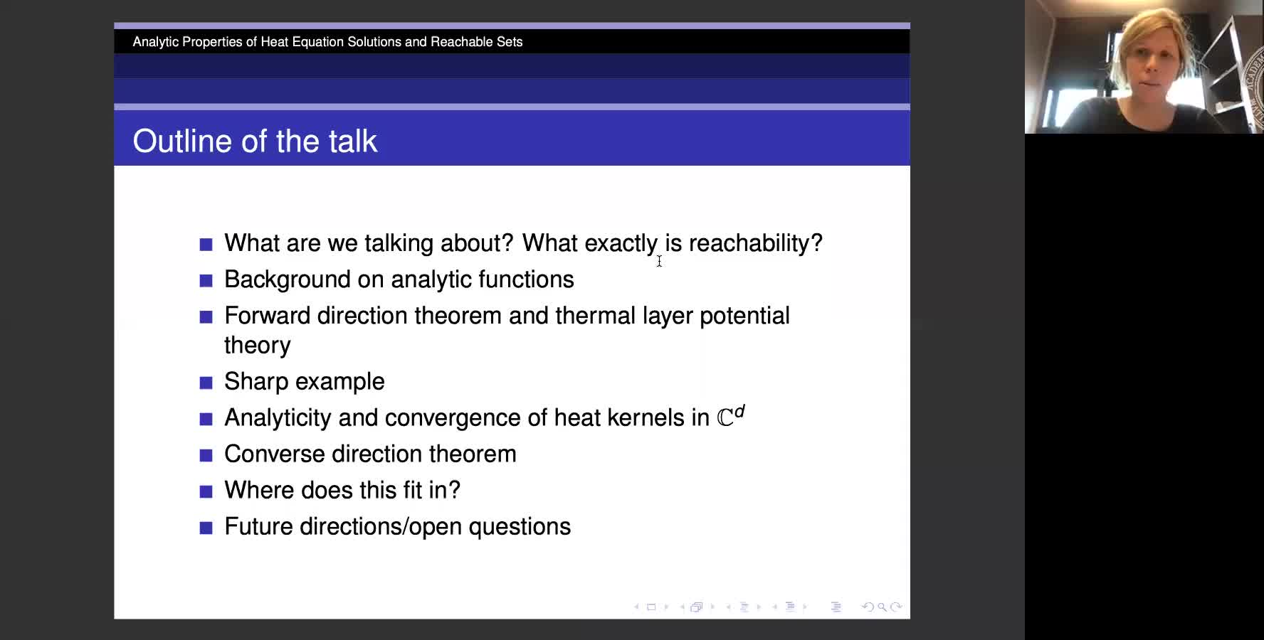 Analytic Properties of Heat Equation Solutions and Reachable Sets preview image