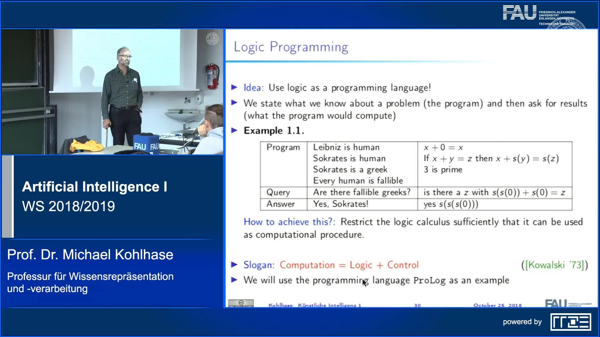 Recap Clip 4.1: Introduction to Logic Programming and PROLOG (Part 1) preview image