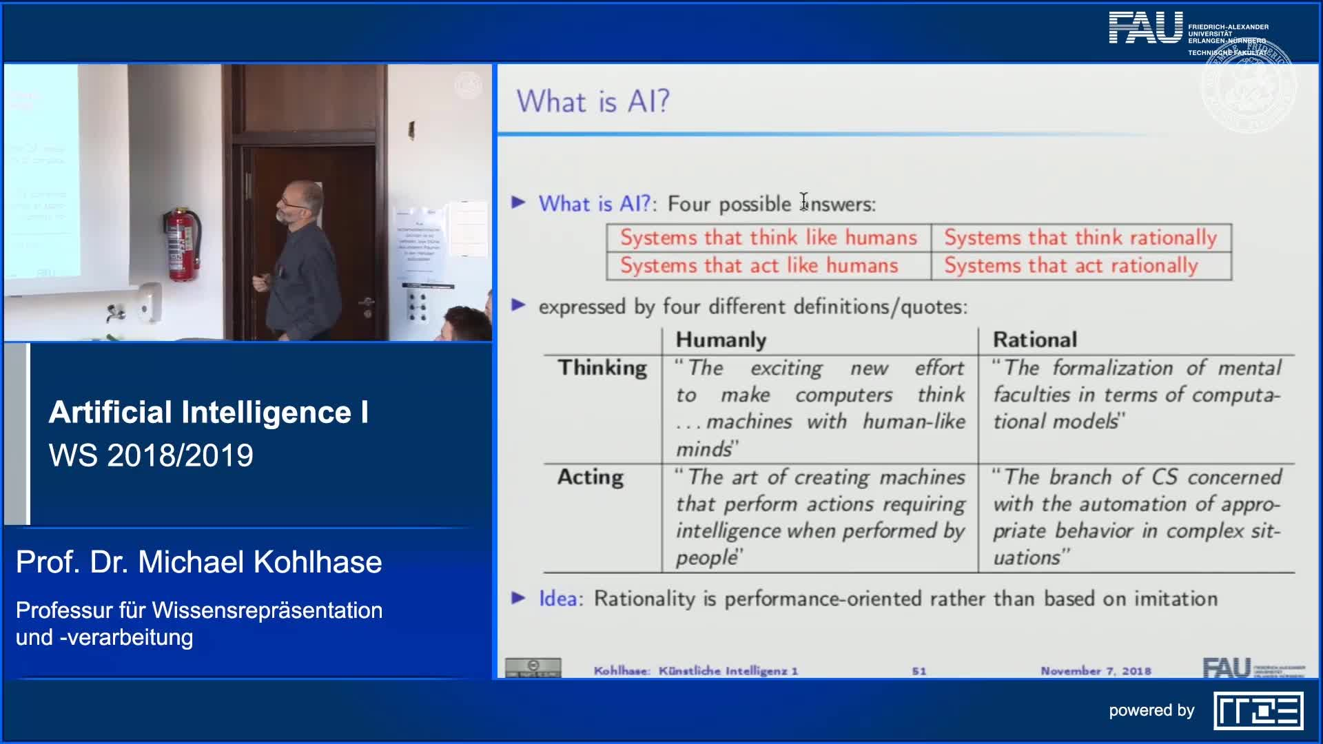 Recap Clip 6.1: Introduction: Rationality in Artificial Intelligence preview image