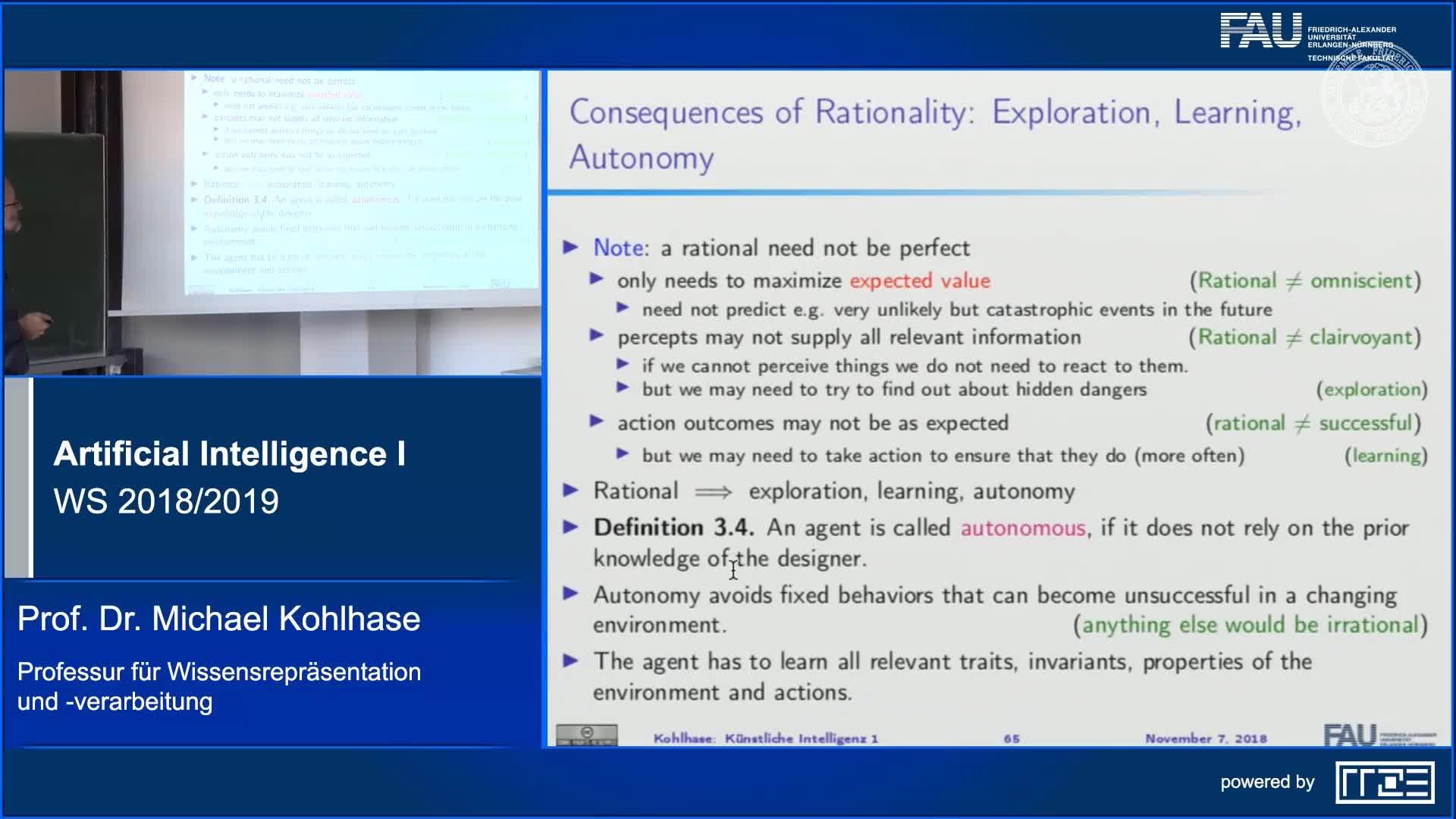 Recap: Good Behavior ~> Rationality preview image