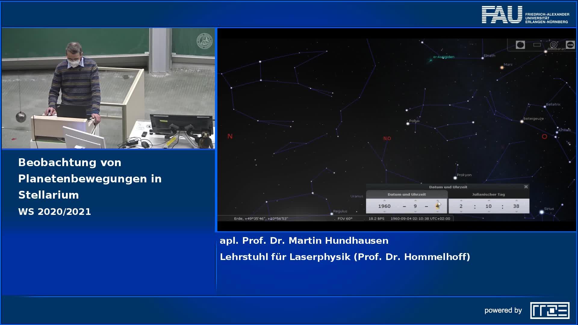 Beobachtung von Planetenbewegungen in Stellarium preview image