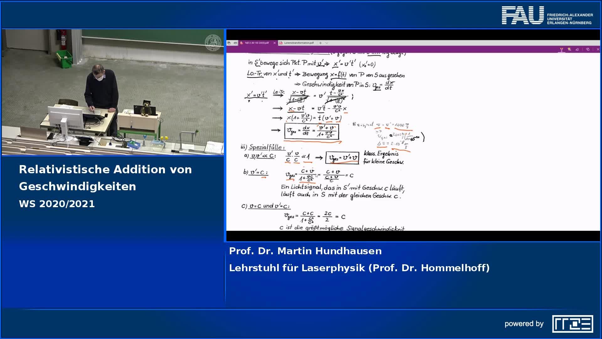 Relativistische Geschwindigkeitsaddition preview image