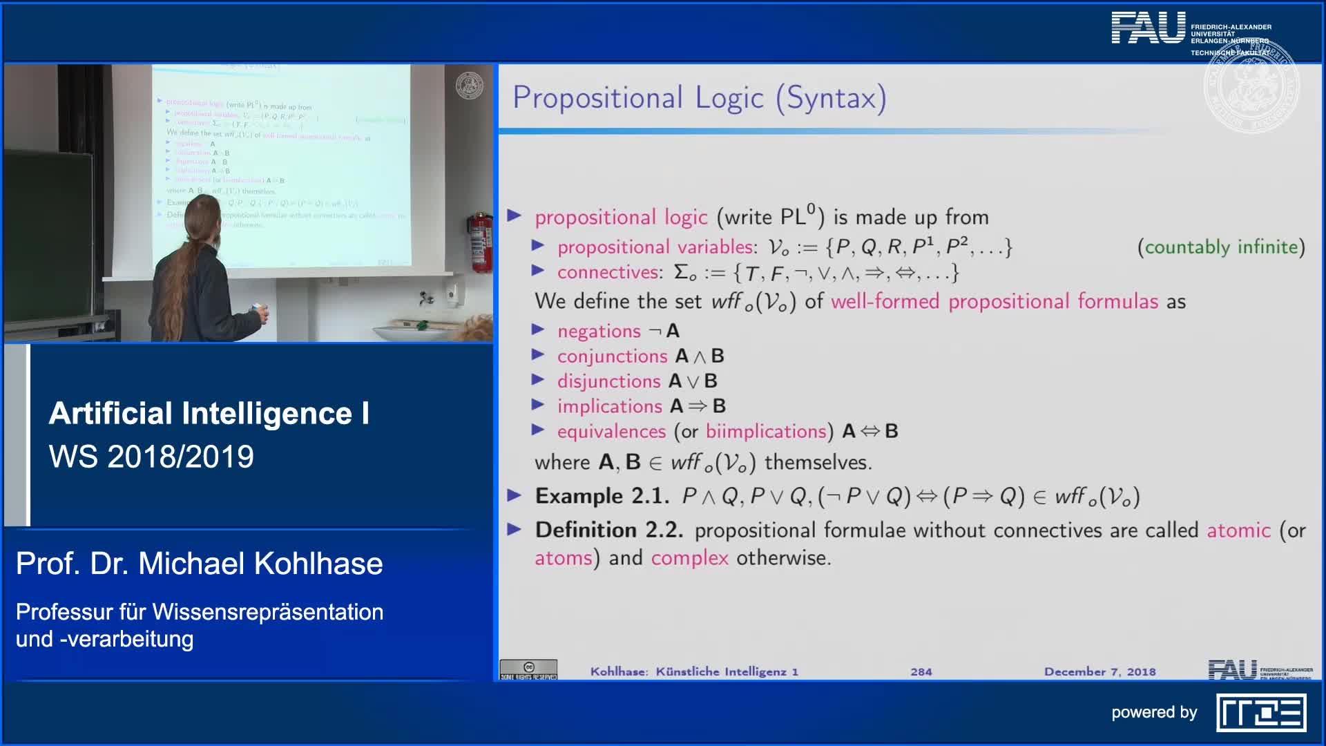 Propositional Logic (Syntax, Semantics) (Part 1) preview image