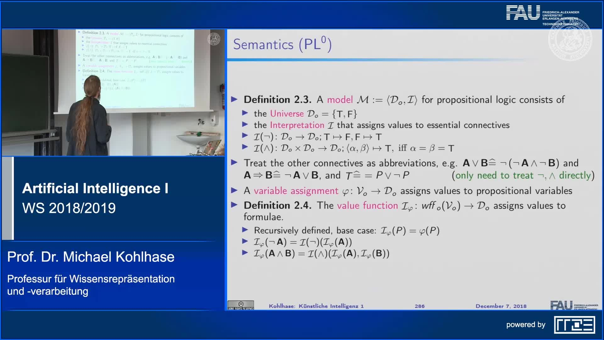 Propositional Logic (Syntax, Semantics) (Part 2) preview image