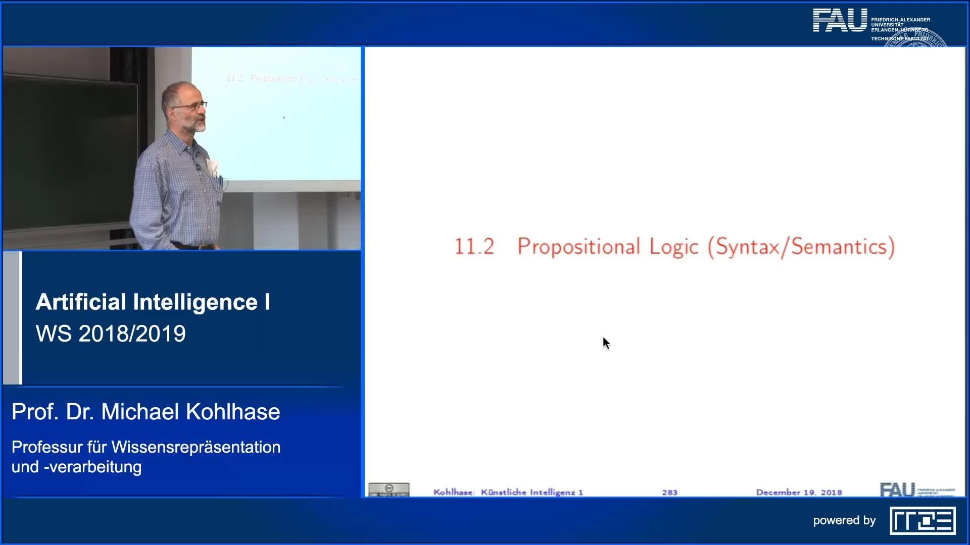Recap Clip 11.3: Propositional Logic (Syntax,Semantics) (Part 1) preview image
