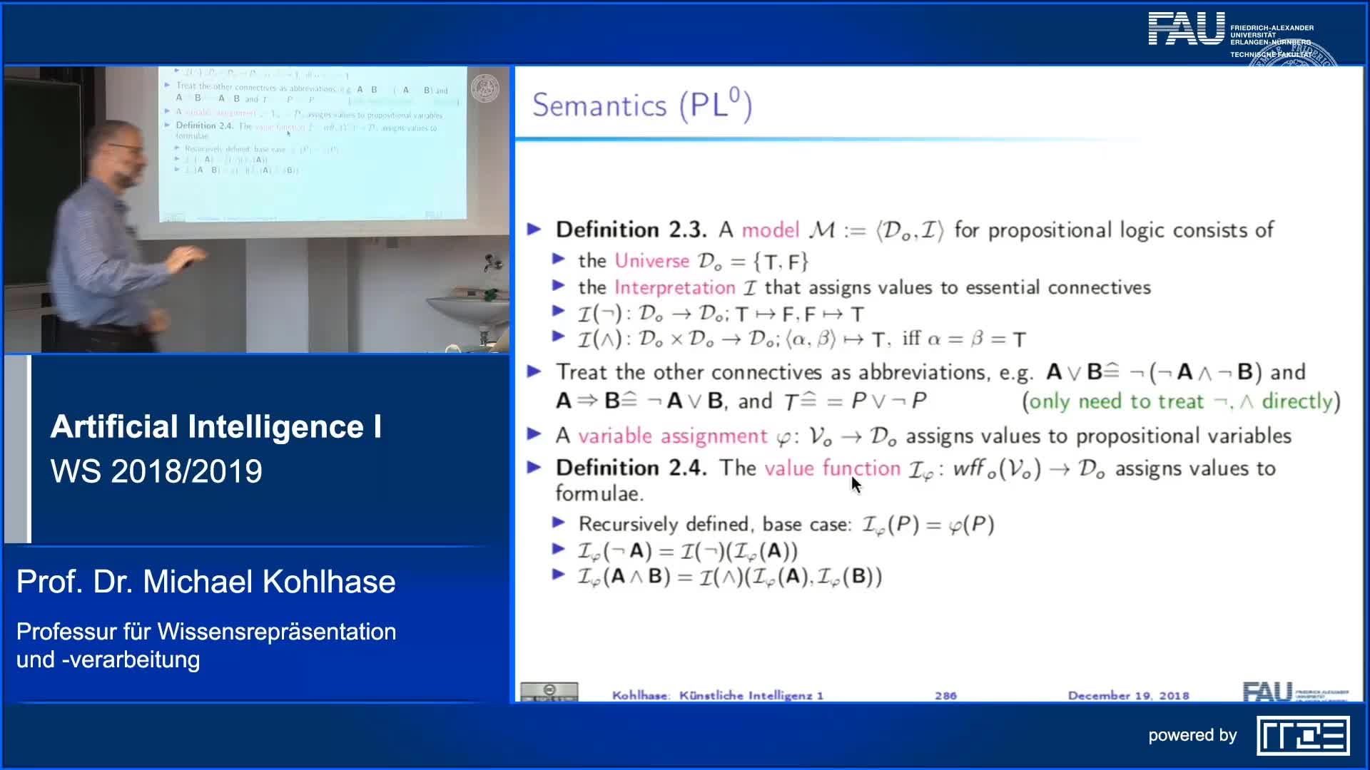 Recap Clip 11.4: Propositional Logic (Syntax,Semantics) (Part 2) preview image