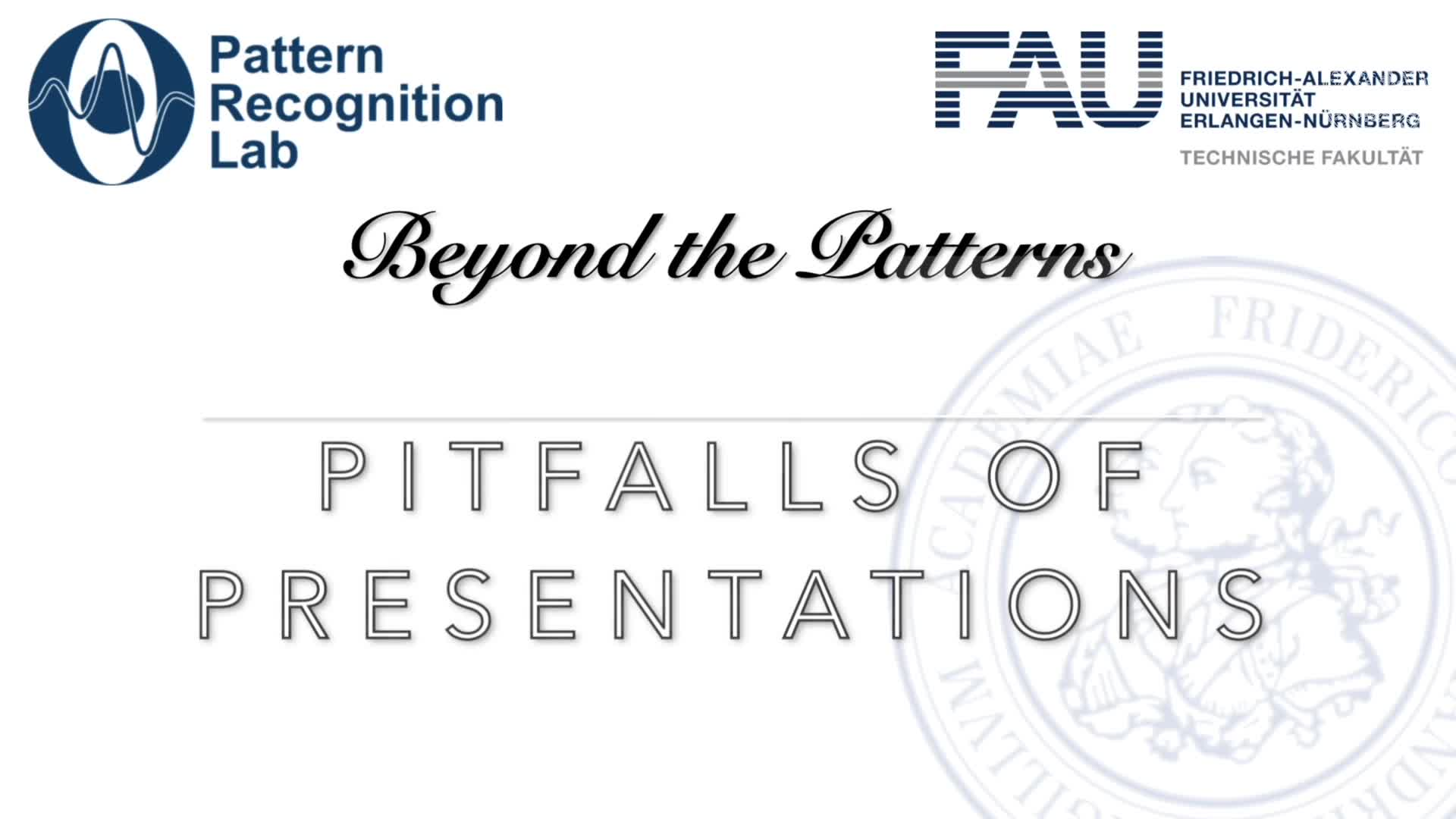 Beyond the Patterns - Pitfalls of Presentations preview image